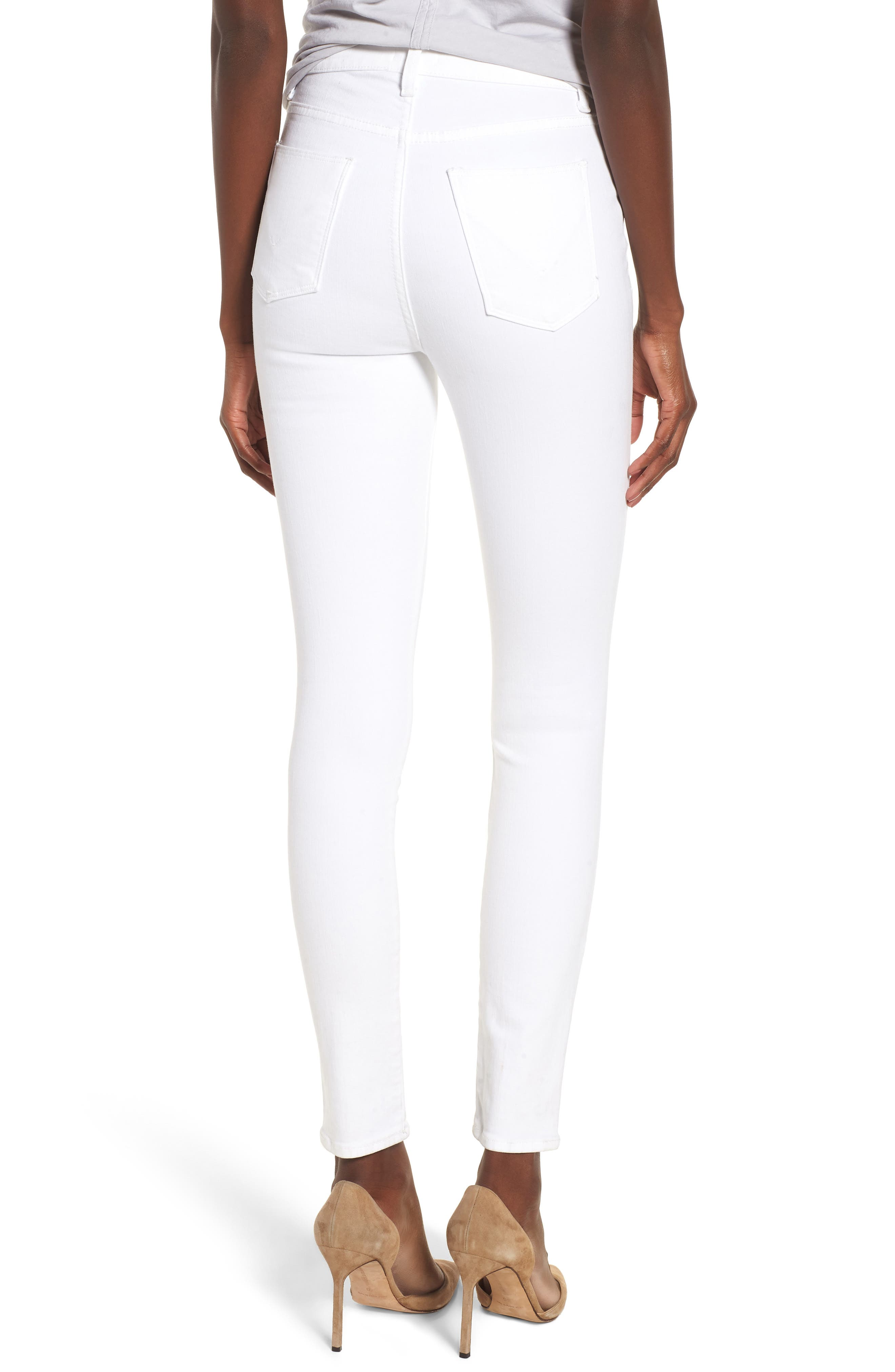 Bullocks Lace-Up High Waist Super Skinny Jeans,                             Alternate thumbnail 2, color,                             Optical White