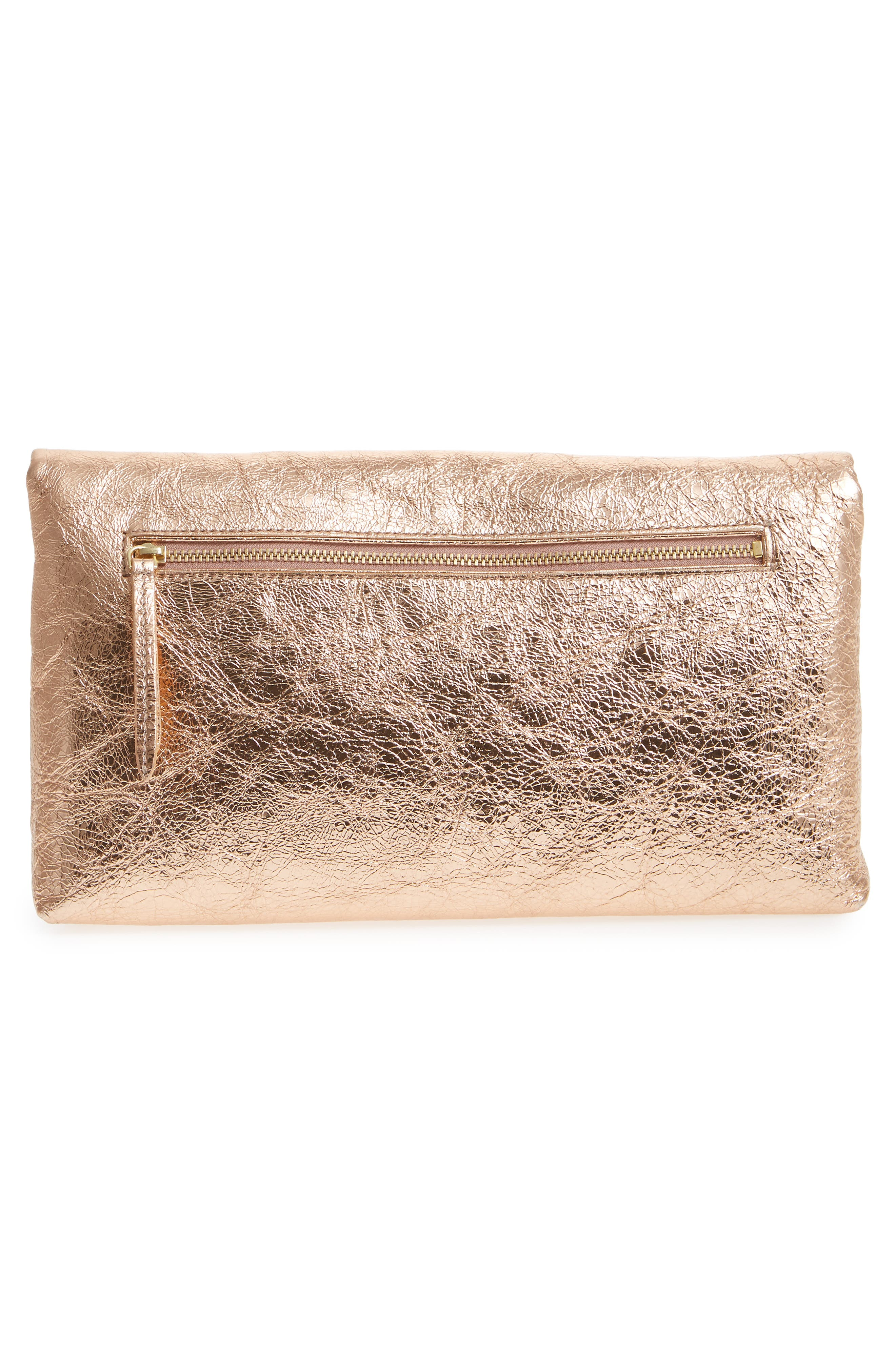 Alternate Image 3  - Dries van Noten Crinkle Metallic Leather Envelope Clutch