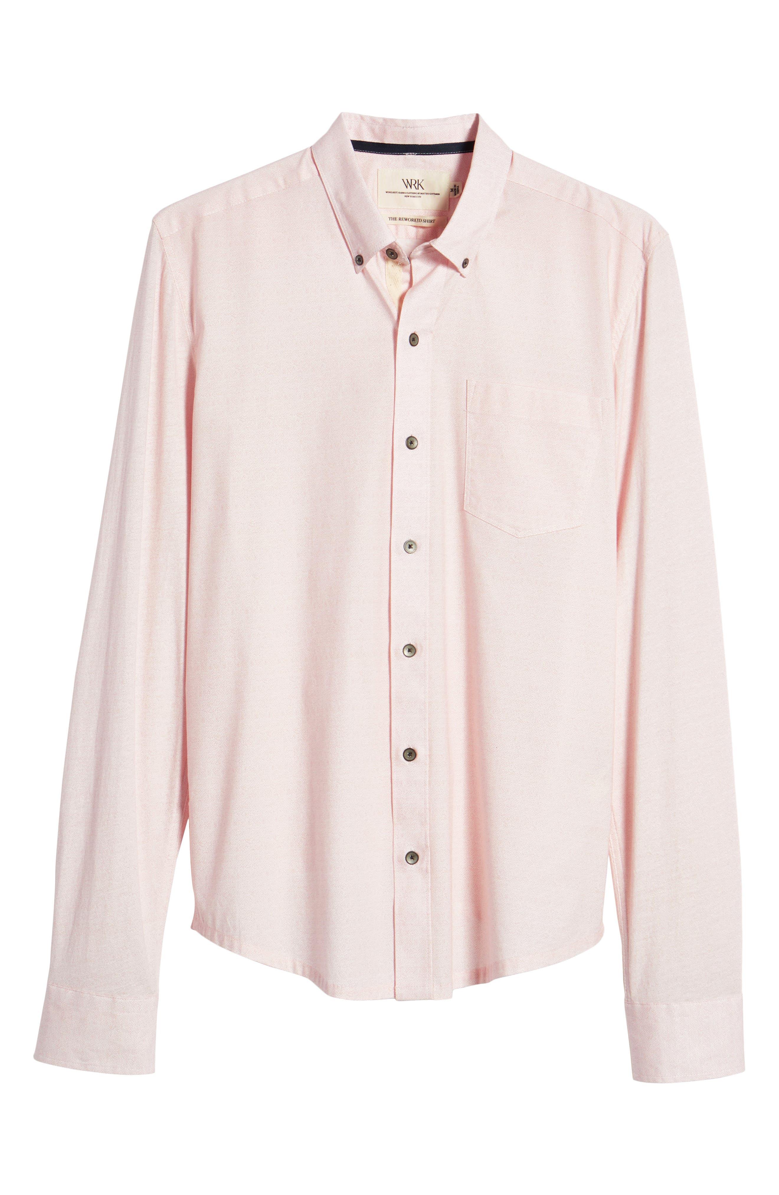 Reworked Slim Fit Speckled Sport Shirt,                             Alternate thumbnail 6, color,                             Pink