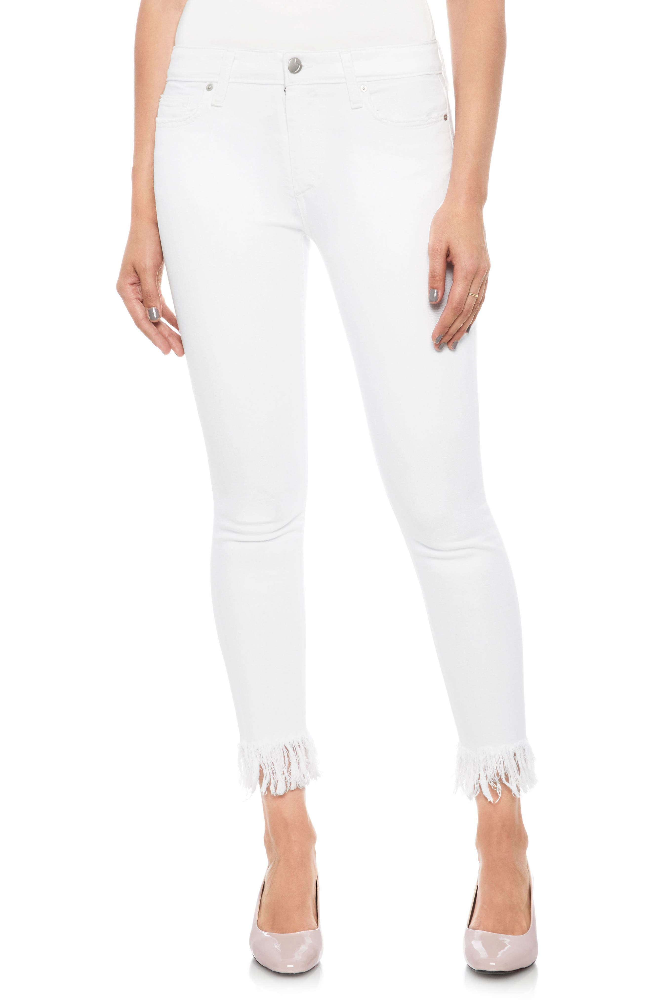 The Icon Crop Skinny Jeans,                         Main,                         color, Saldana