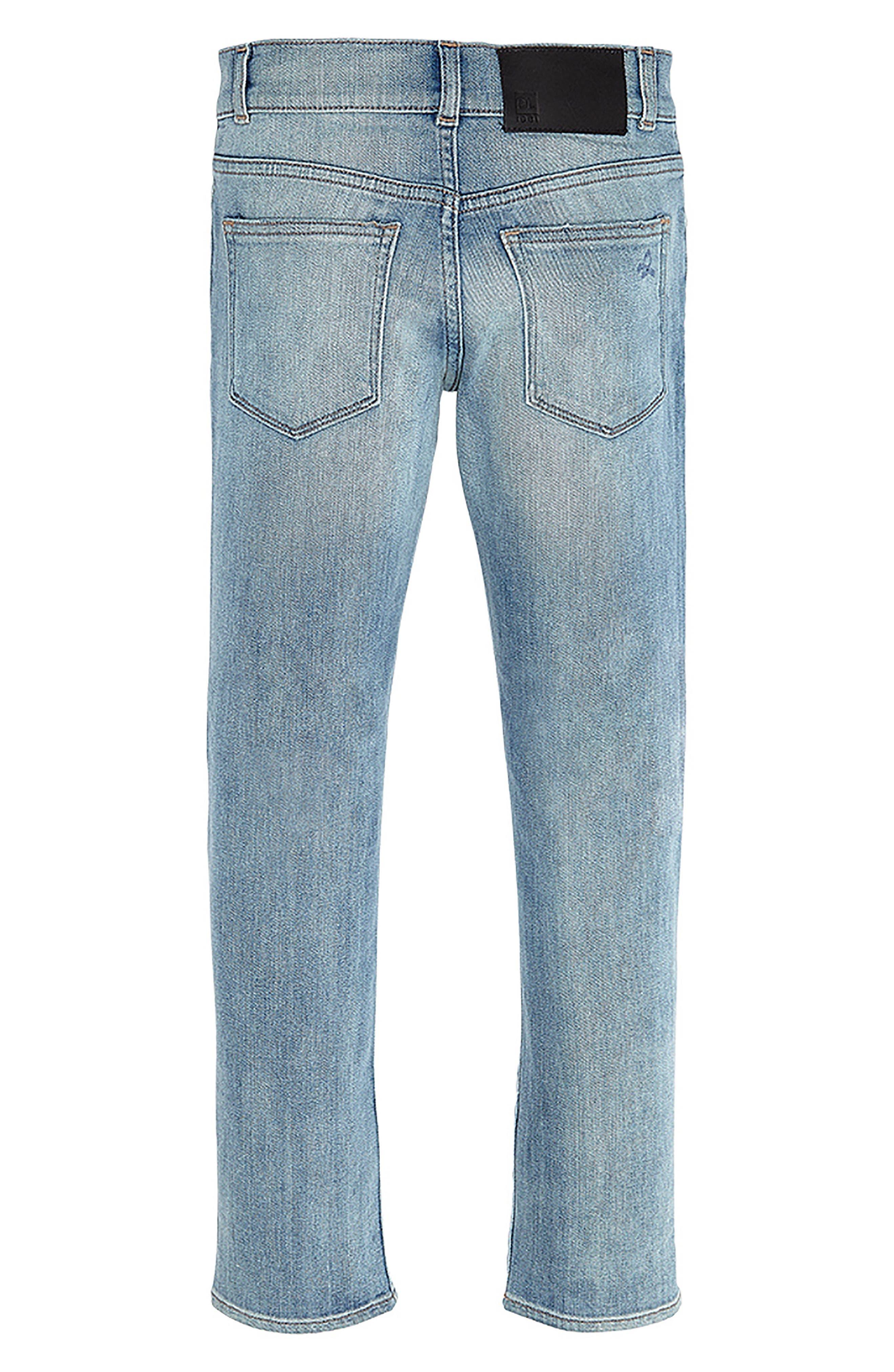 DL 1961 Hawke Skinny Jeans,                             Alternate thumbnail 2, color,                             Brain Freeze