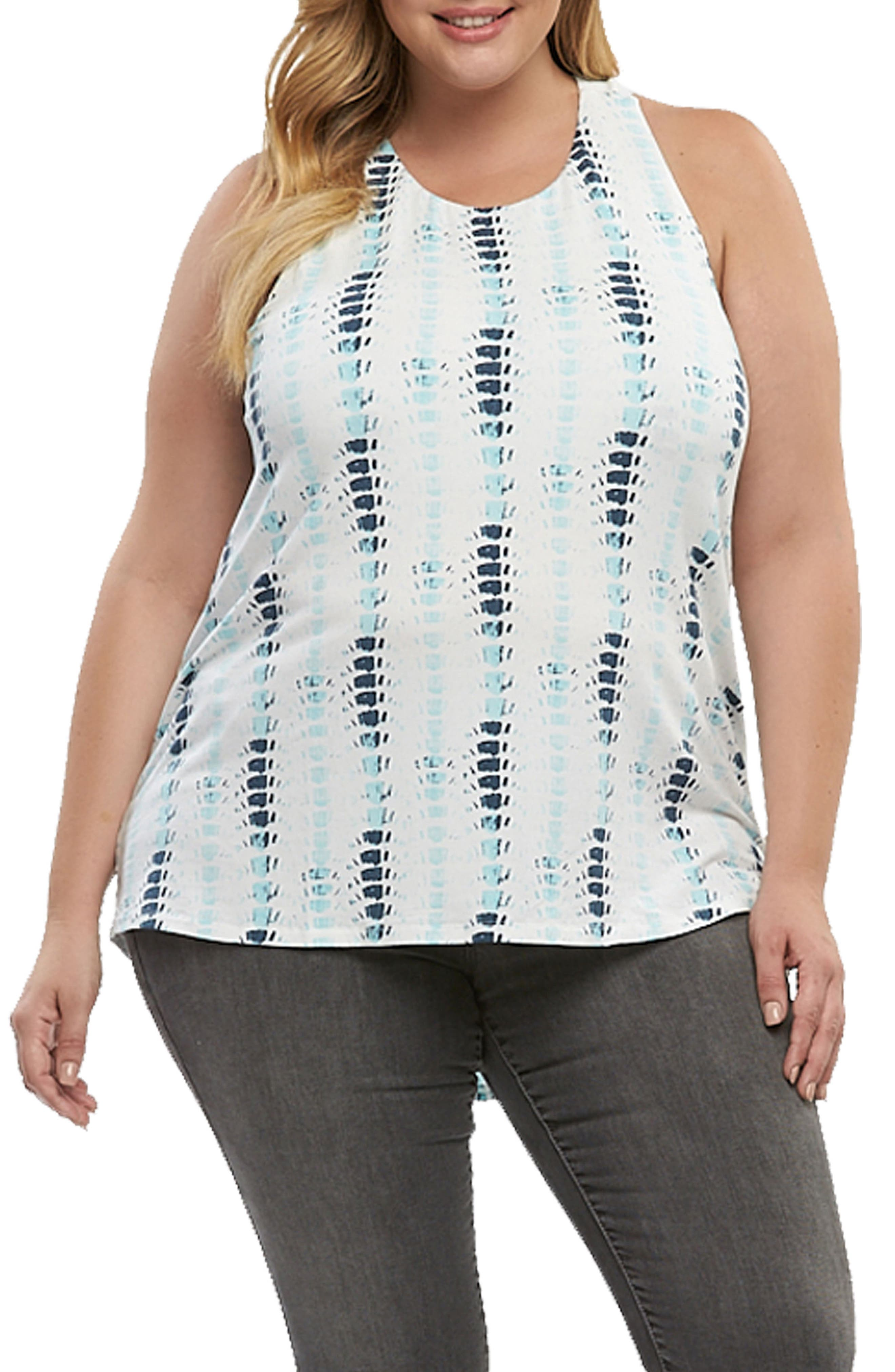 Janalyn Crisscross Back Top,                         Main,                         color, Brushed Stripe