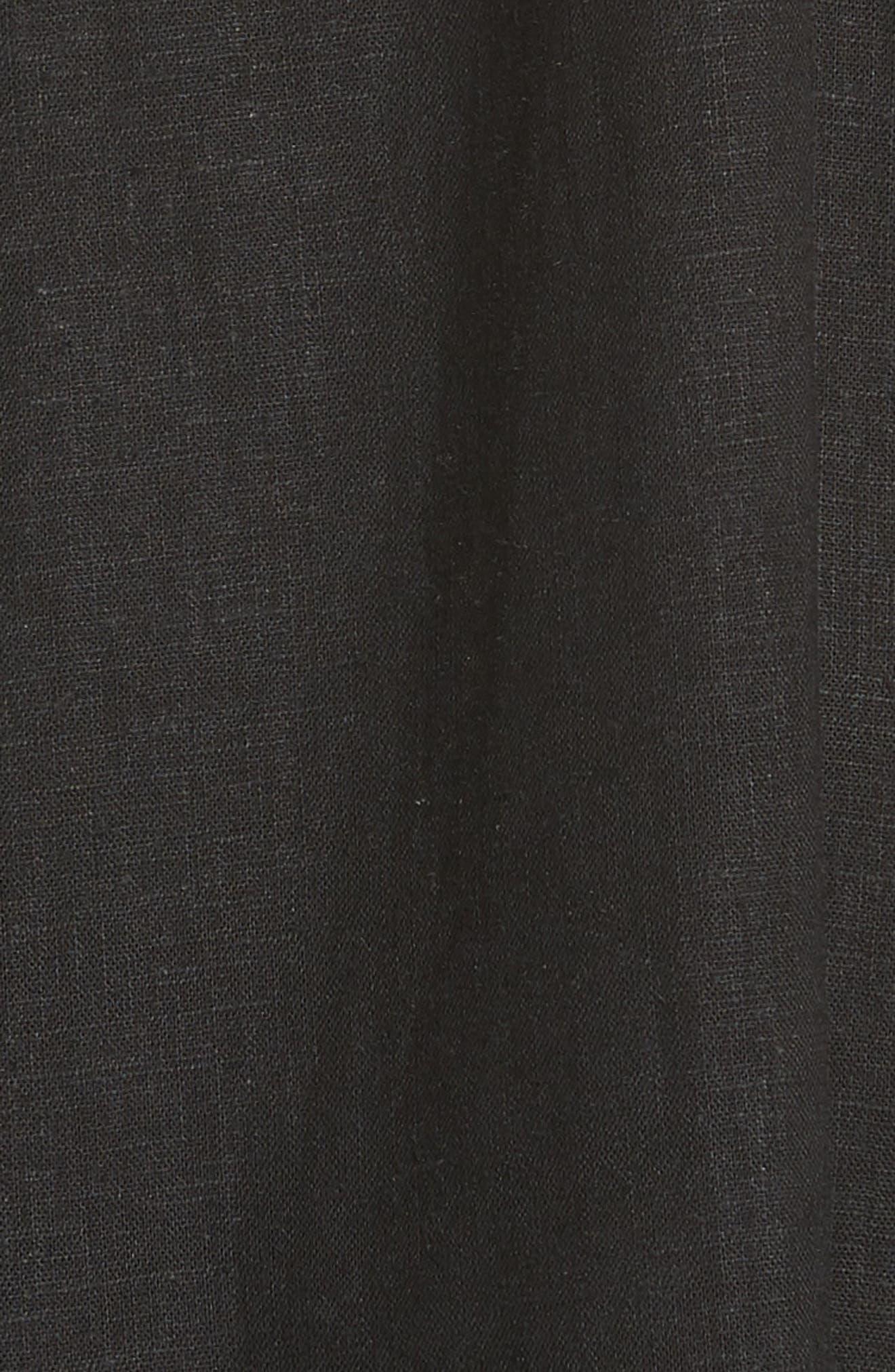 Drape Neck Asymmetrical Hem Dress,                             Alternate thumbnail 5, color,                             Black