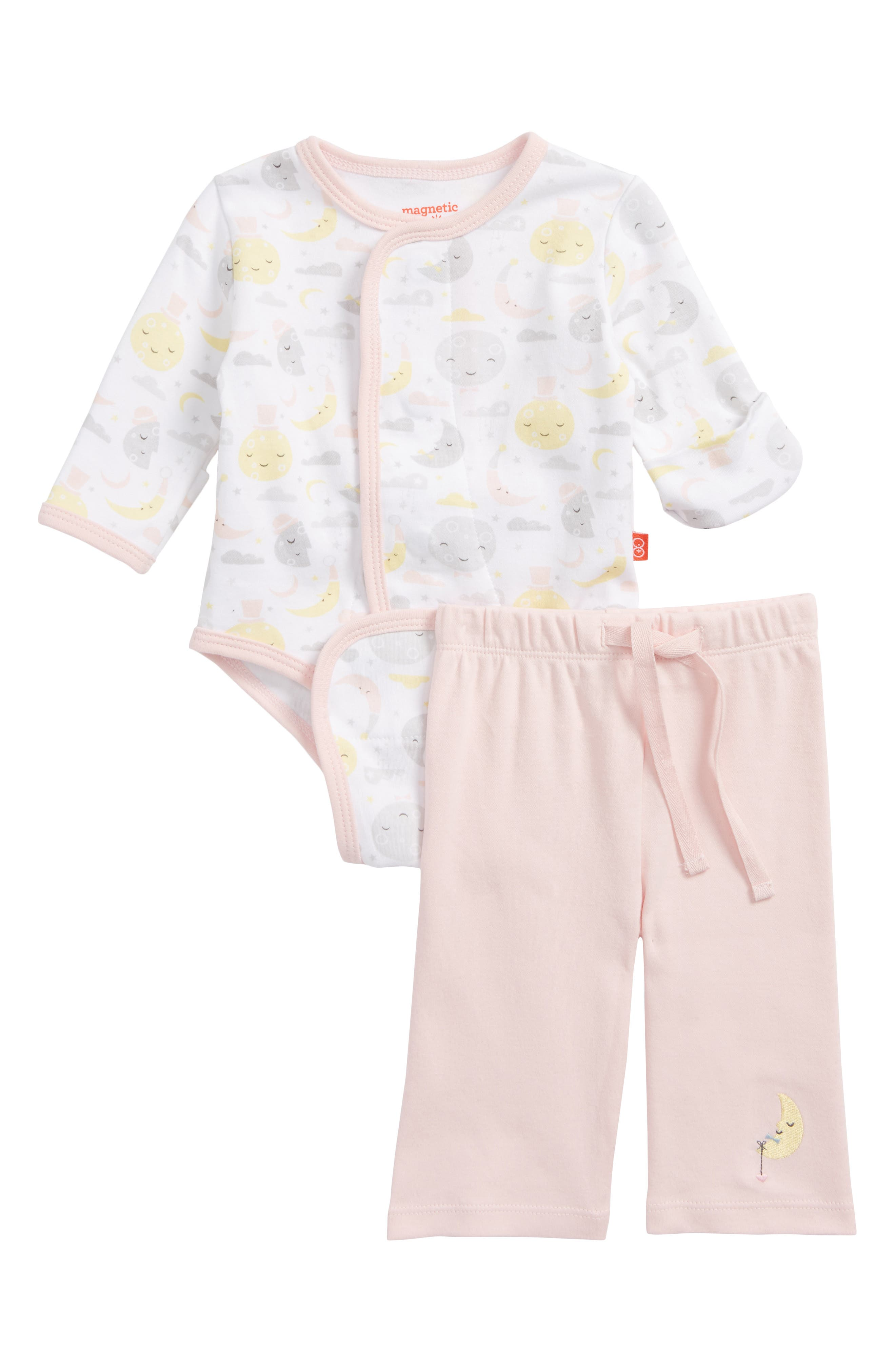 Magnetic Me To the Moon Bodysuit & Pants Set (Baby Girls)