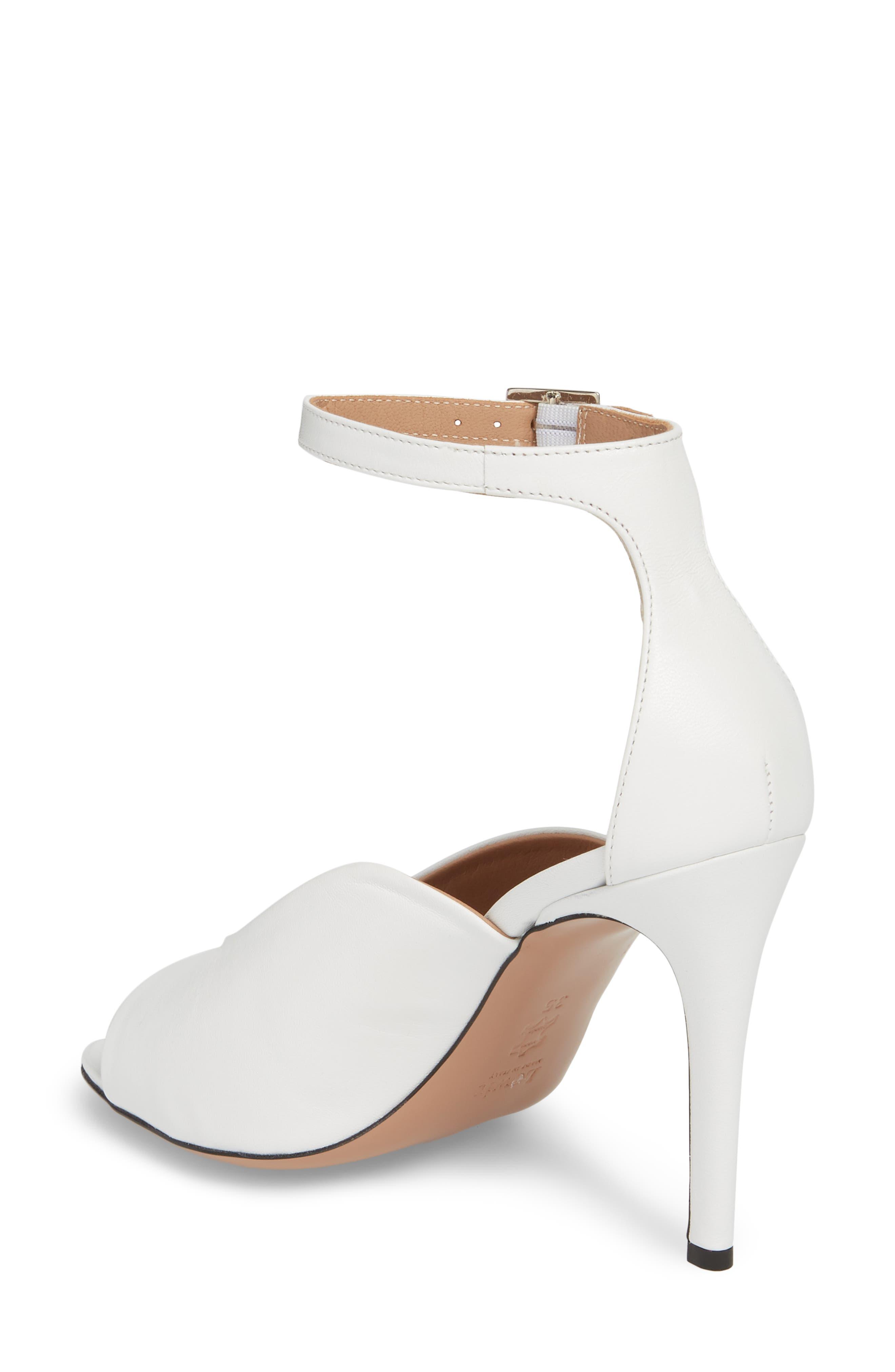 Rosalia Halo Strap Sandal,                             Alternate thumbnail 2, color,                             White Leather