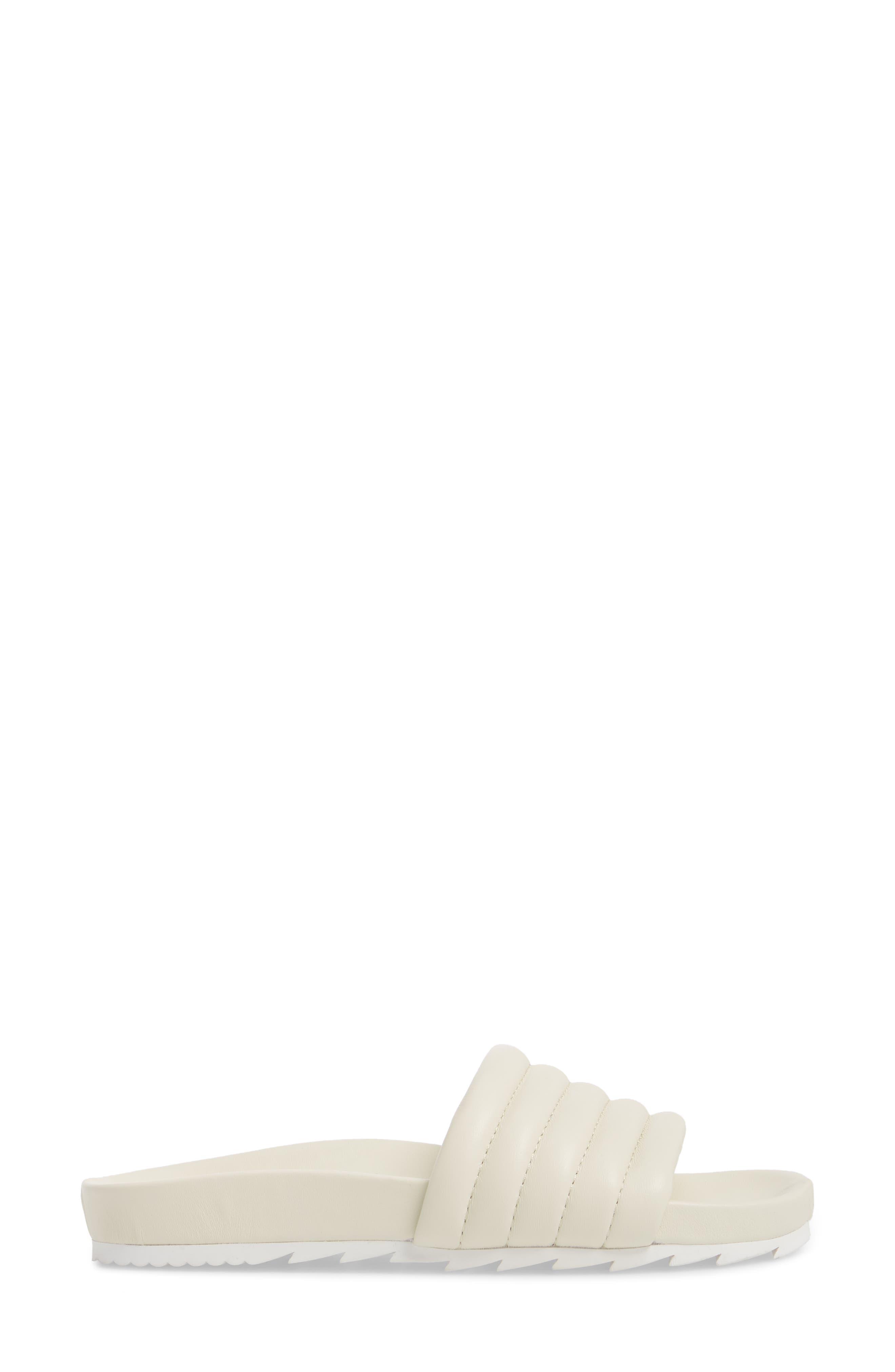 Eppie Slide Sandal,                             Alternate thumbnail 3, color,                             Off White Leather