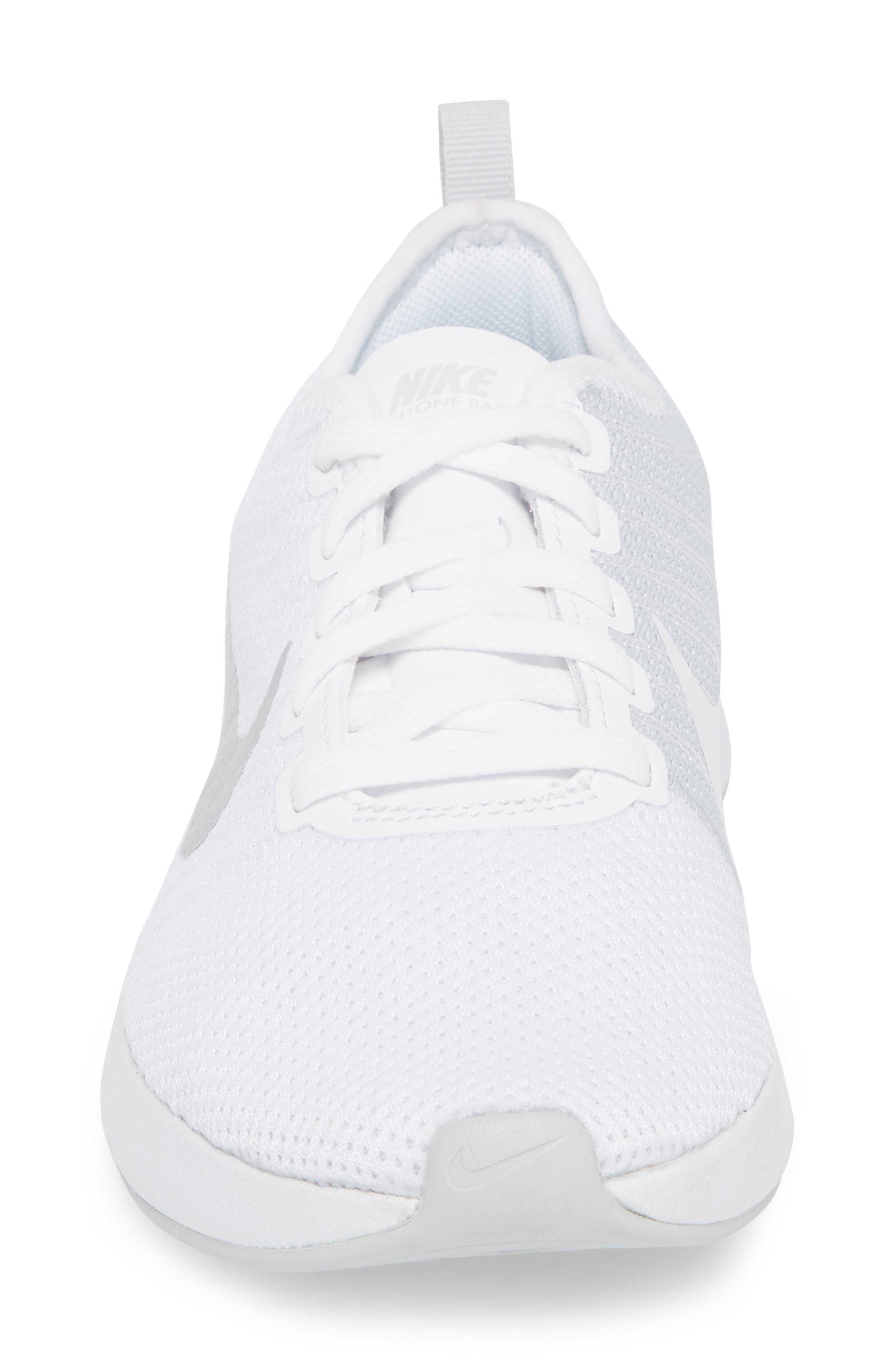 Dualtone Racer Running Shoe,                             Alternate thumbnail 4, color,                             White/ Pure Platinum
