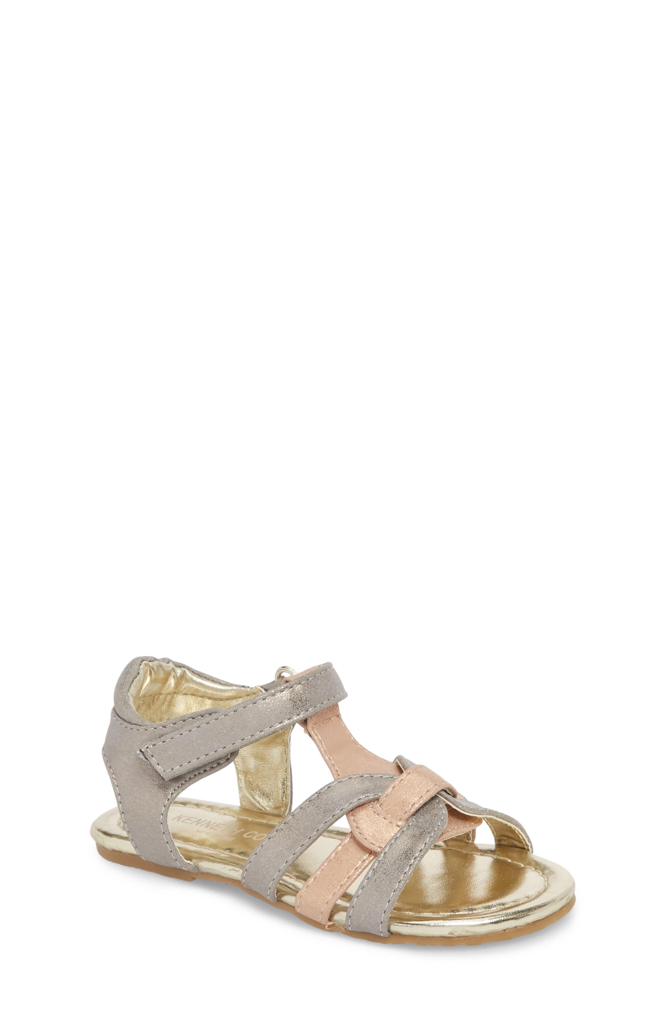 Echo Strappy Sandal,                         Main,                         color, Rose Metallic