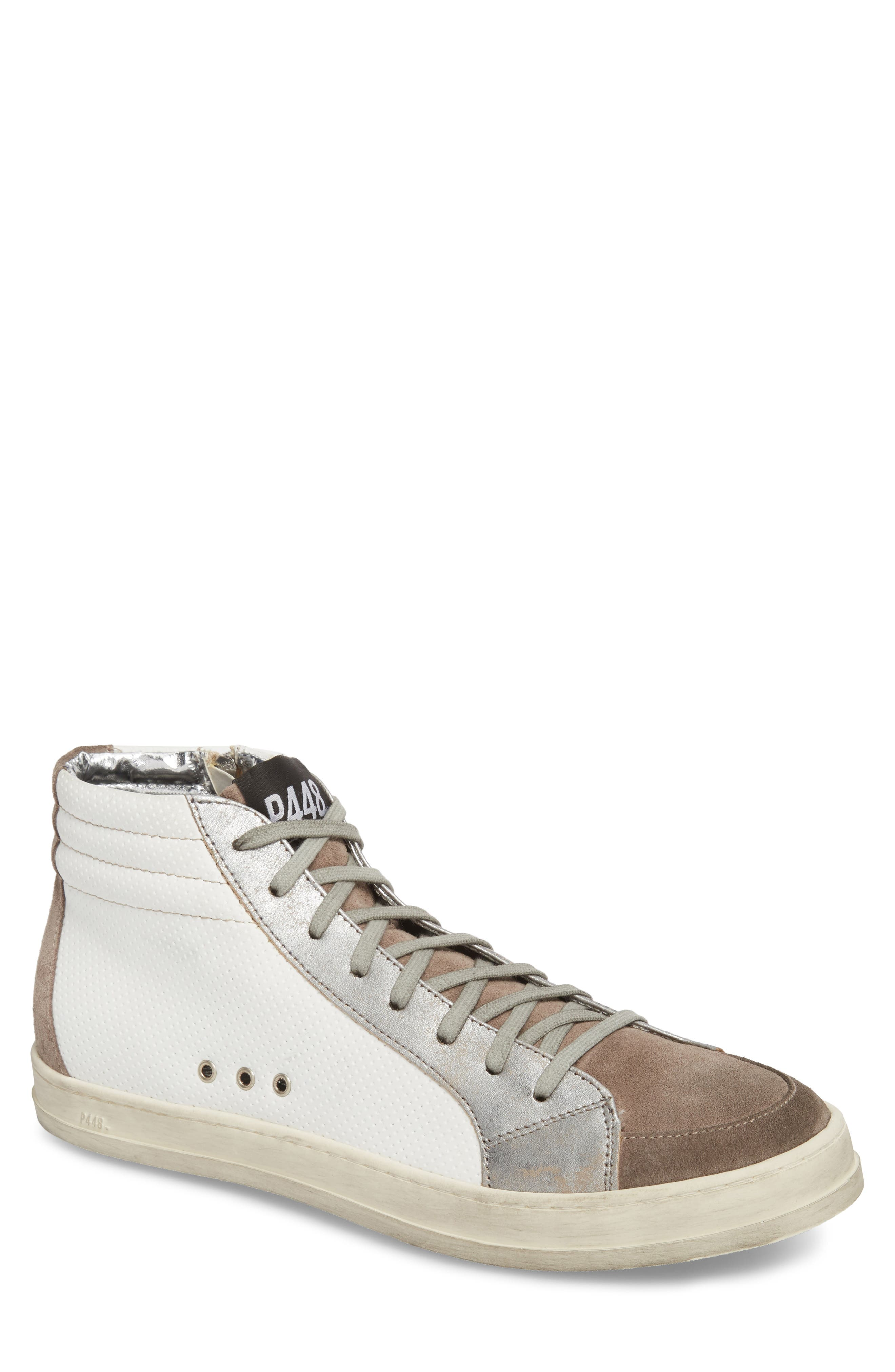 Skate High Top Sneaker,                             Main thumbnail 1, color,                             White