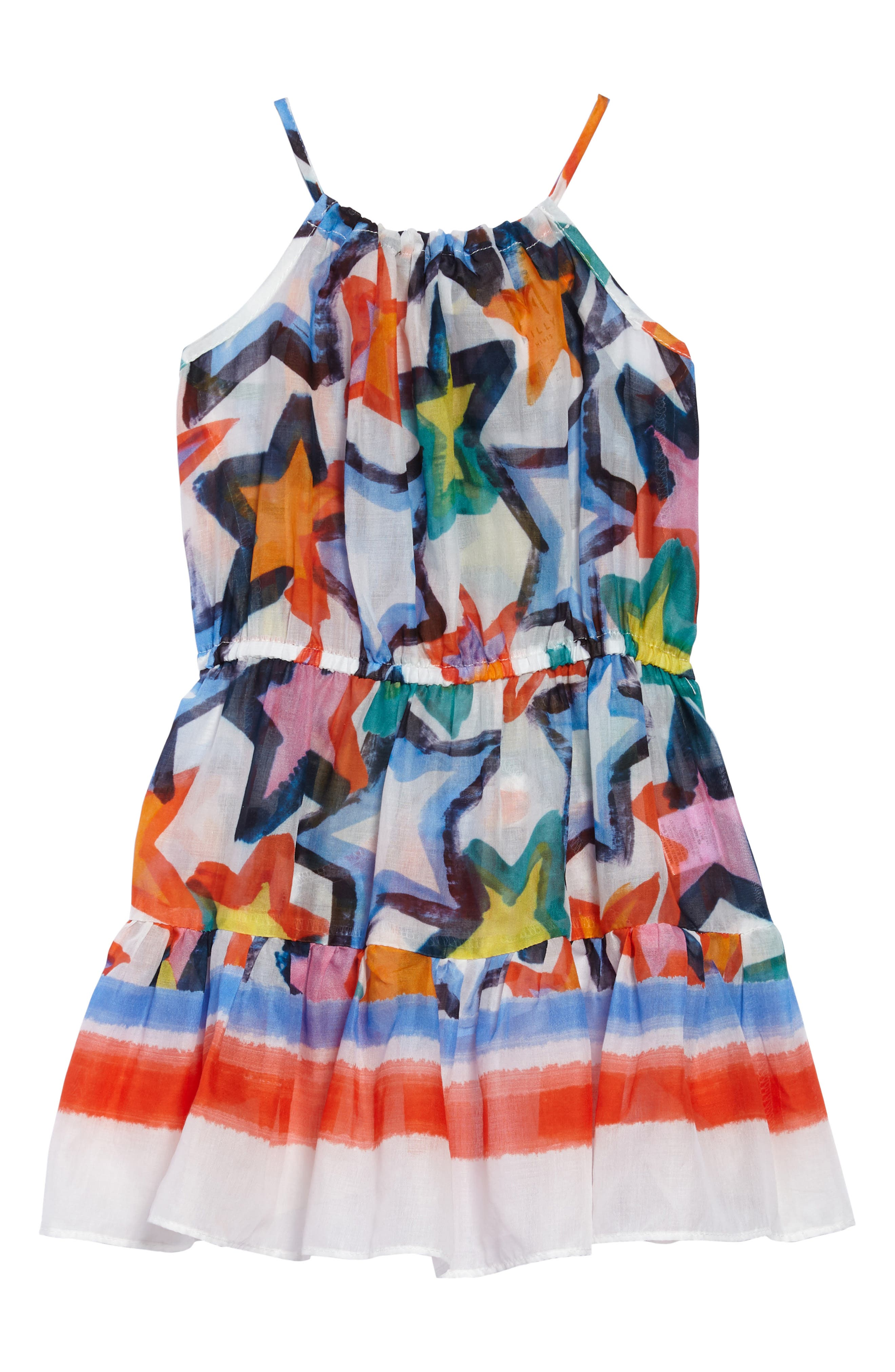 Tiered Dress,                             Main thumbnail 1, color,                             White Multi