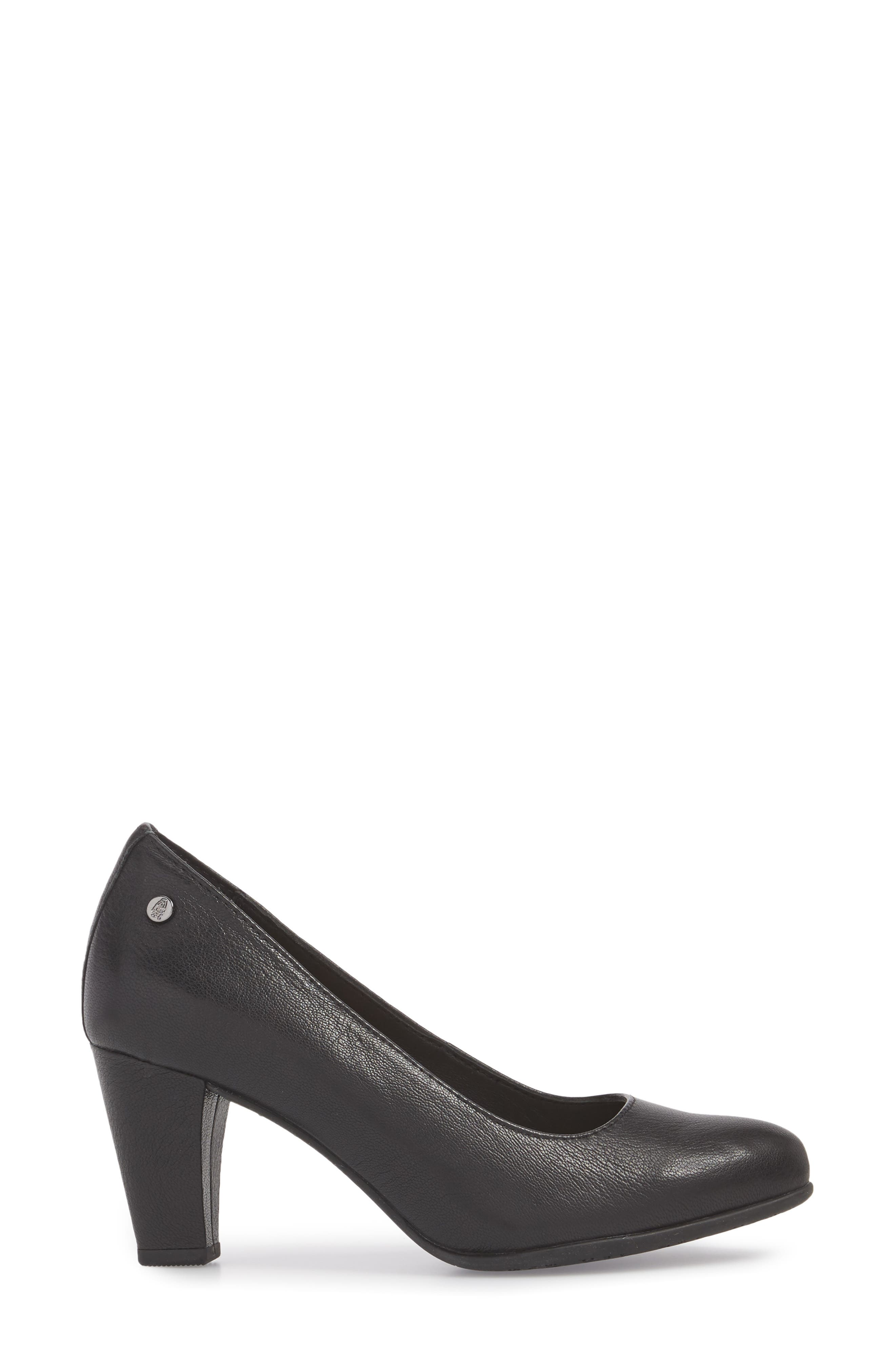 Minam Meaghan Pump,                             Alternate thumbnail 3, color,                             Black Leather