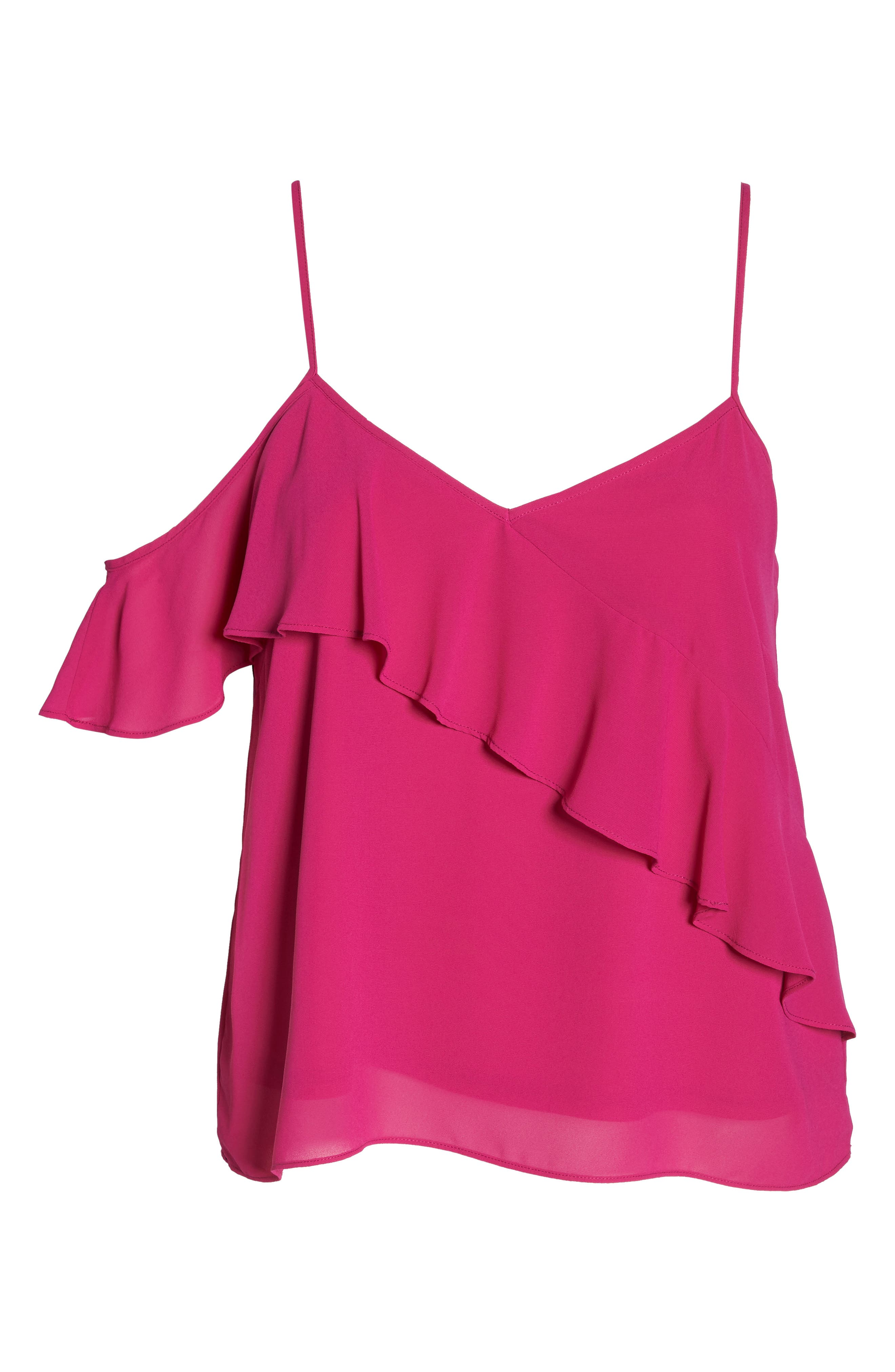 One Ruffle Camisole,                             Alternate thumbnail 7, color,                             Pink