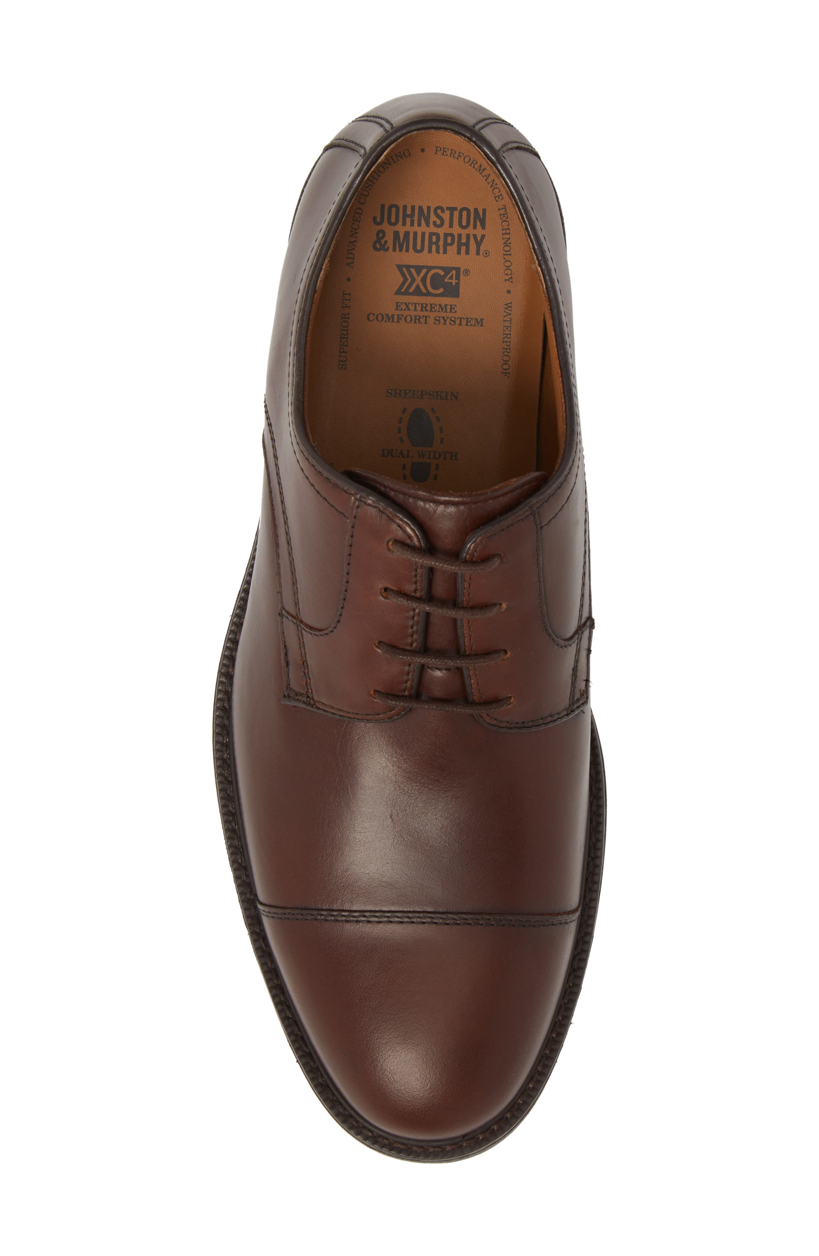 Hollis XC4<sup>®</sup> Waterproof Cap Toe Derby,                             Alternate thumbnail 5, color,                             Oak Brown Leather
