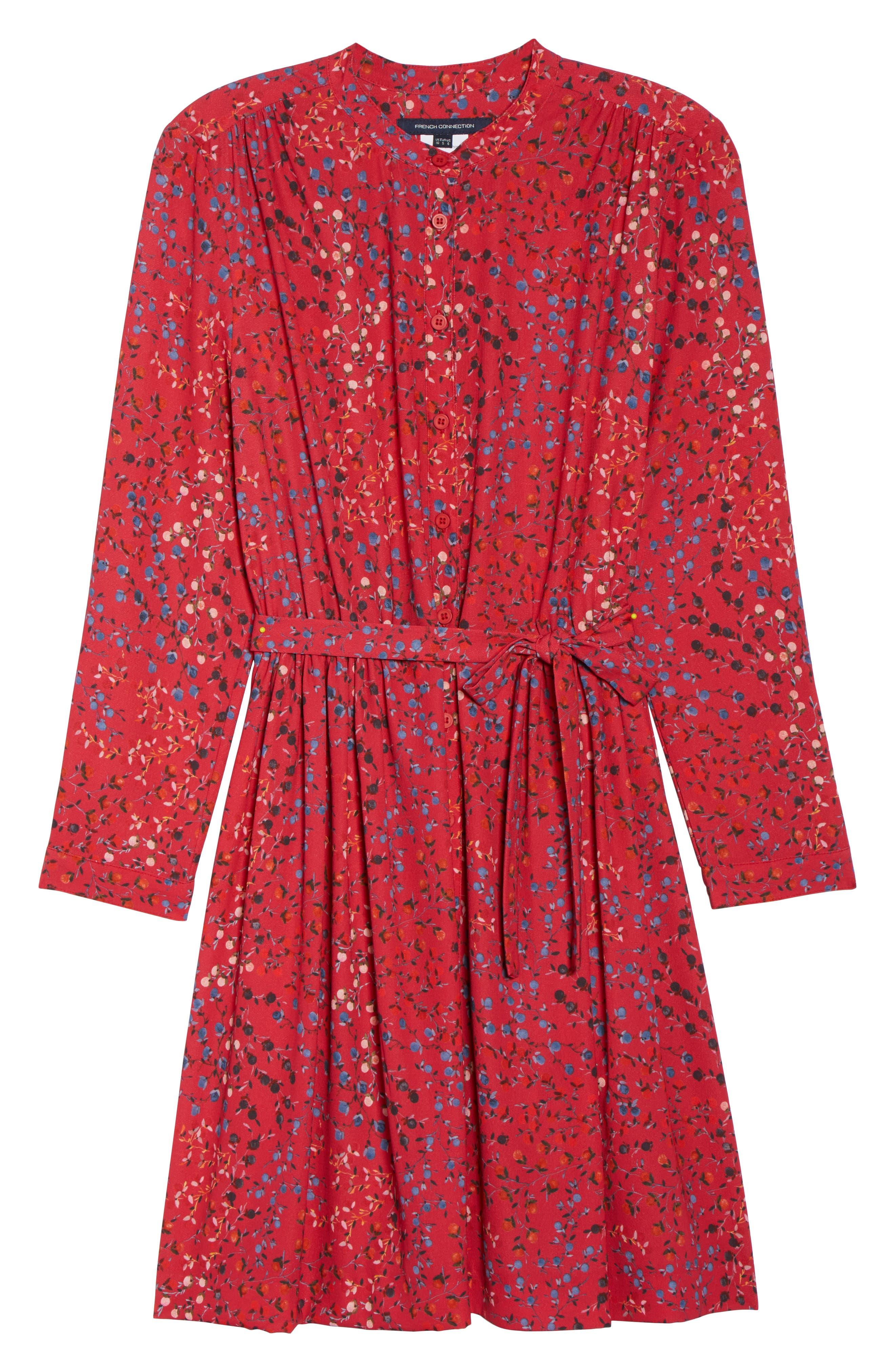 Frances Drape Shirtdress,                             Alternate thumbnail 6, color,                             Watermelon
