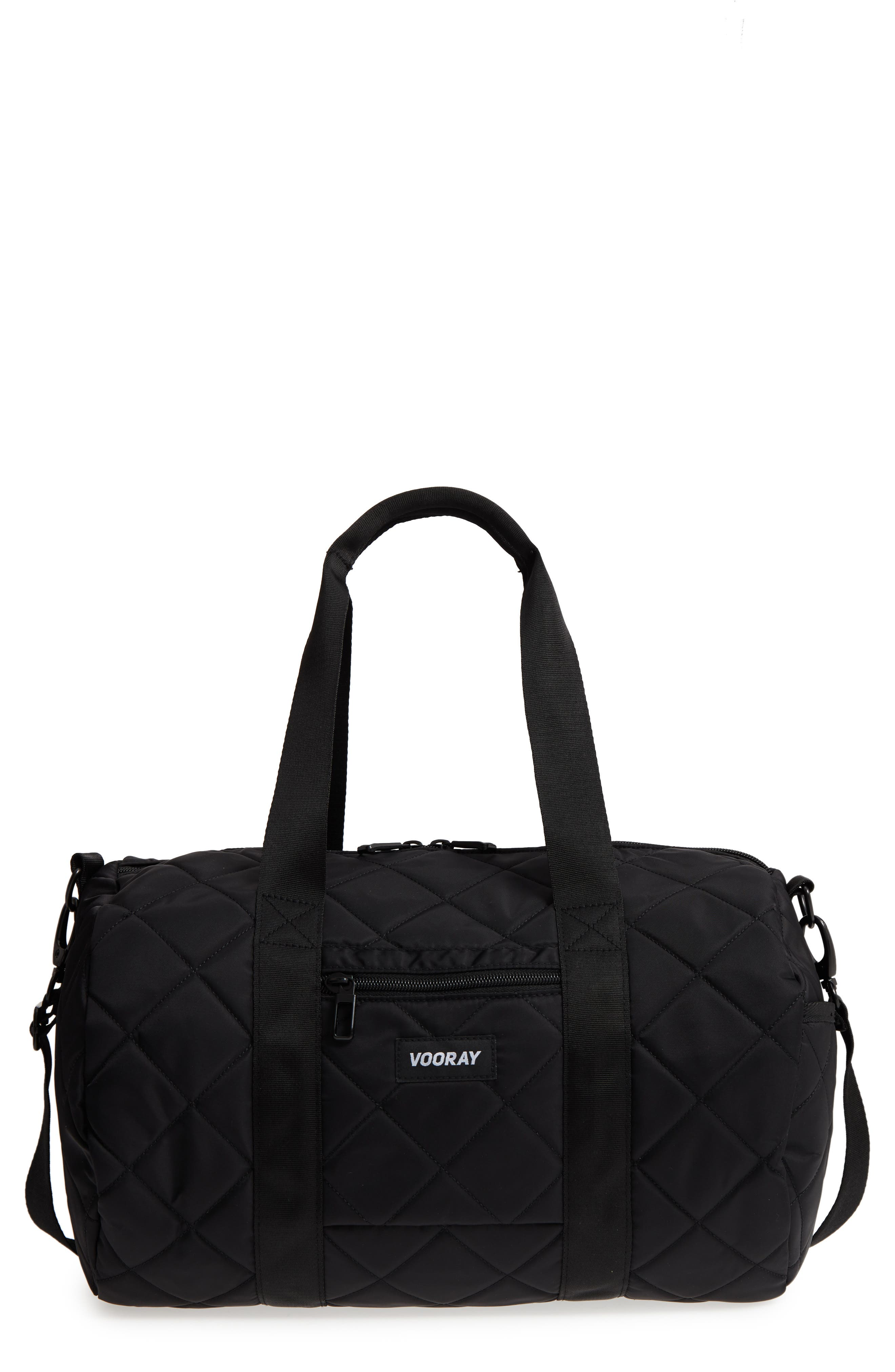 Roadie Small Duffel Bag,                             Main thumbnail 1, color,                             Quilted Black Nylon