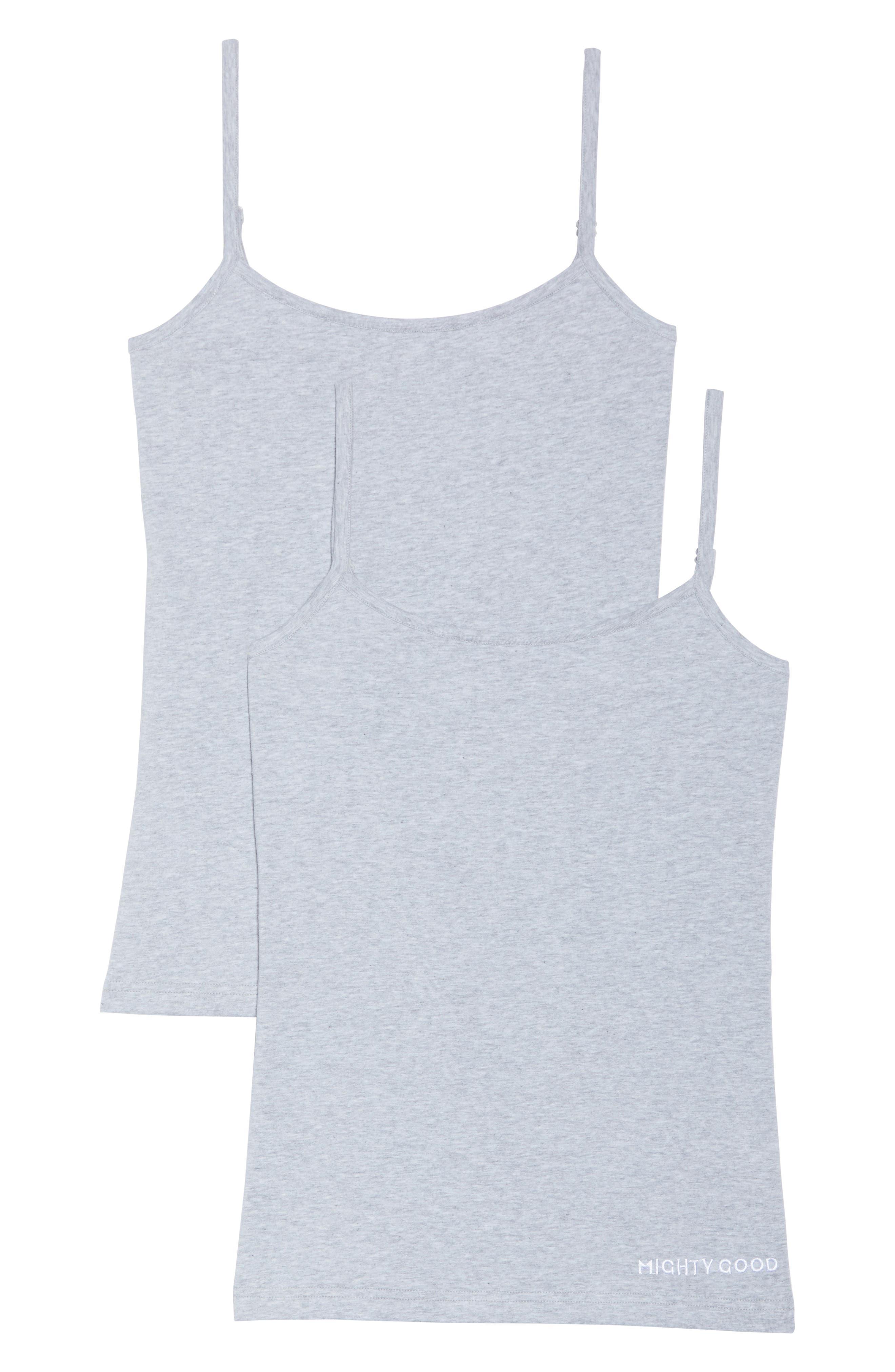 Mighty Good Undies 2-Pack Stretch Organic Cotton Camisoles