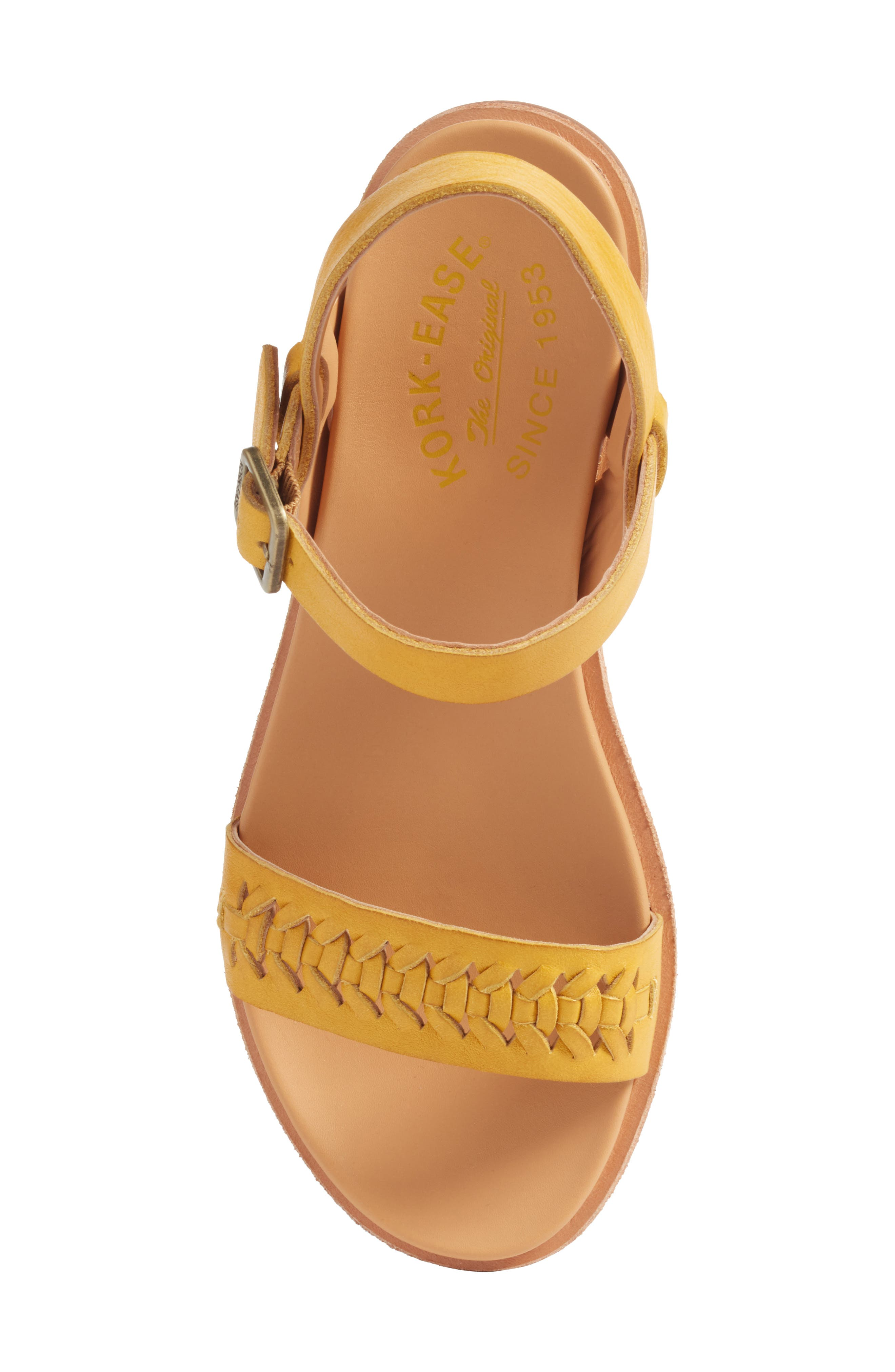 Yucca Braid Sandal,                             Alternate thumbnail 5, color,                             Yellow Leather