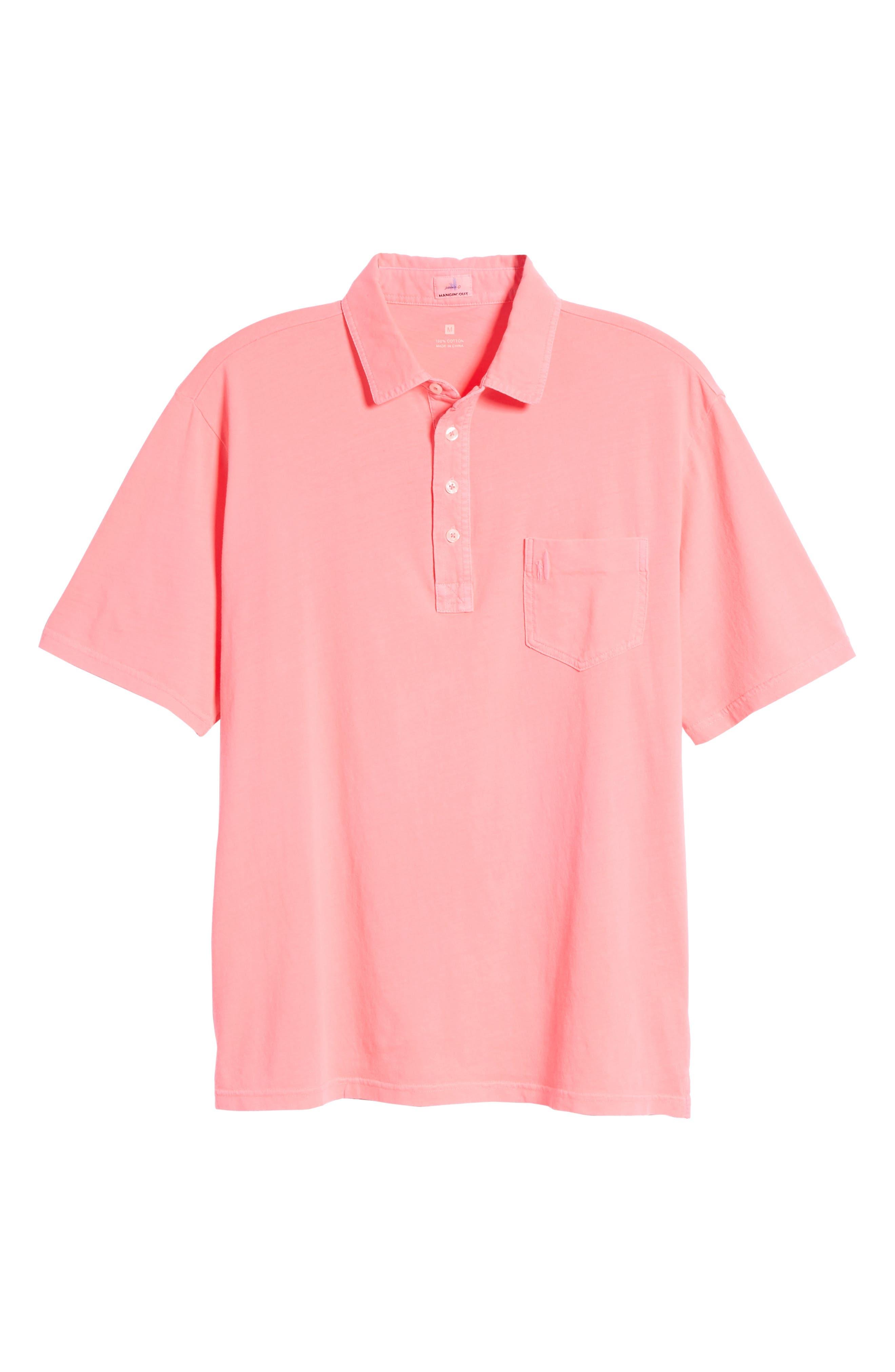 Original Regular Fit Garment Dyed Polo,                             Alternate thumbnail 6, color,                             Neon Pink
