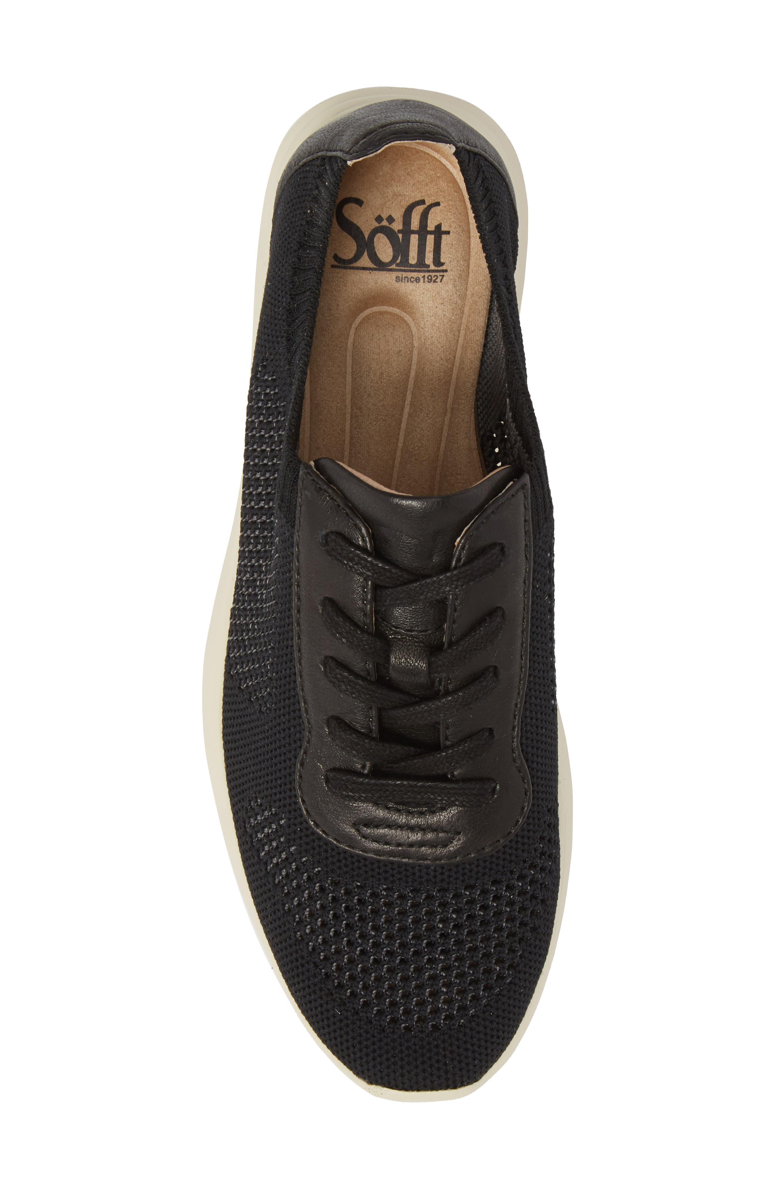 Novella Sneaker,                             Alternate thumbnail 5, color,                             Black Fabric