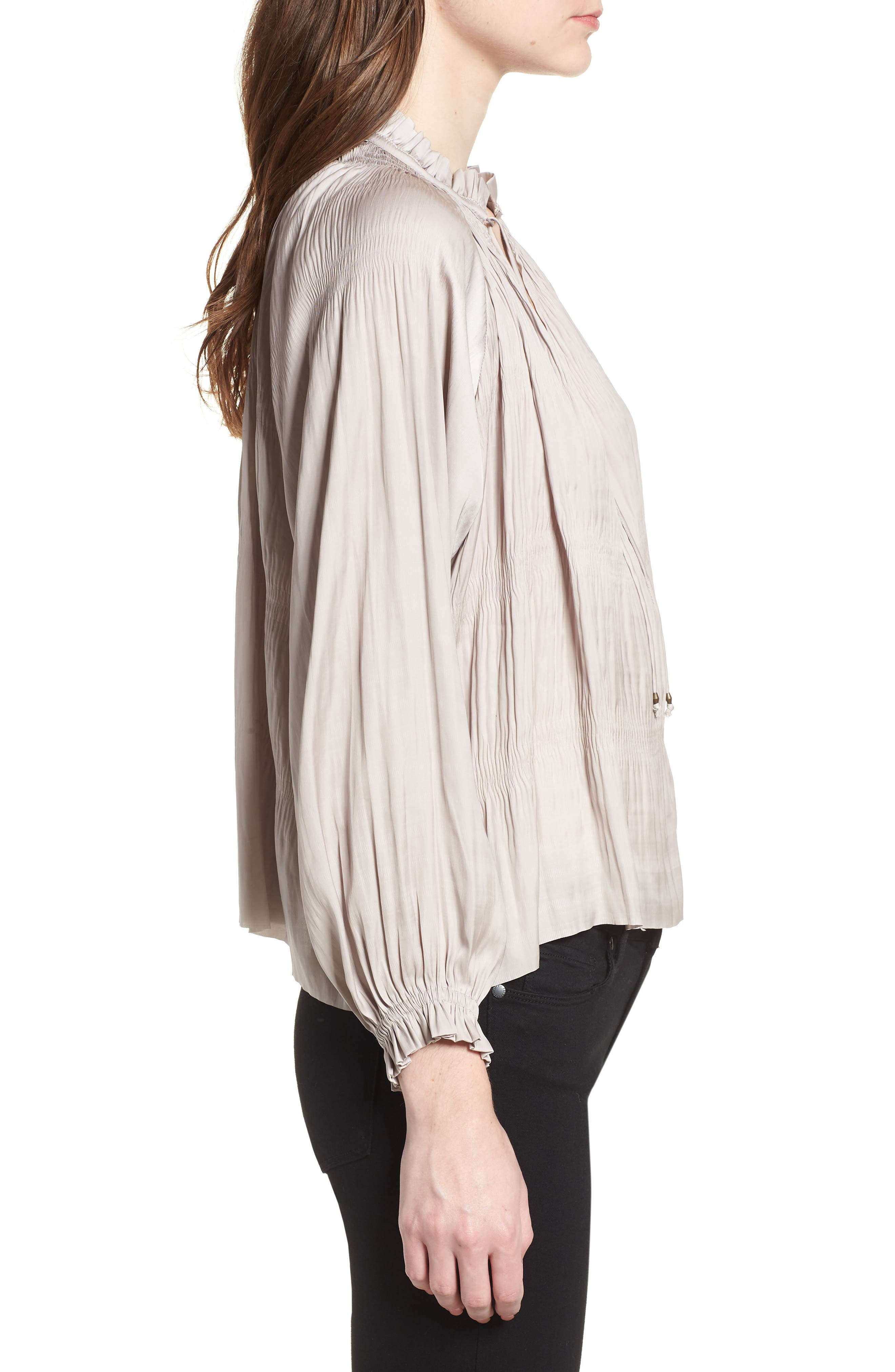Brooklyn Blouse,                             Alternate thumbnail 3, color,                             Light Grey