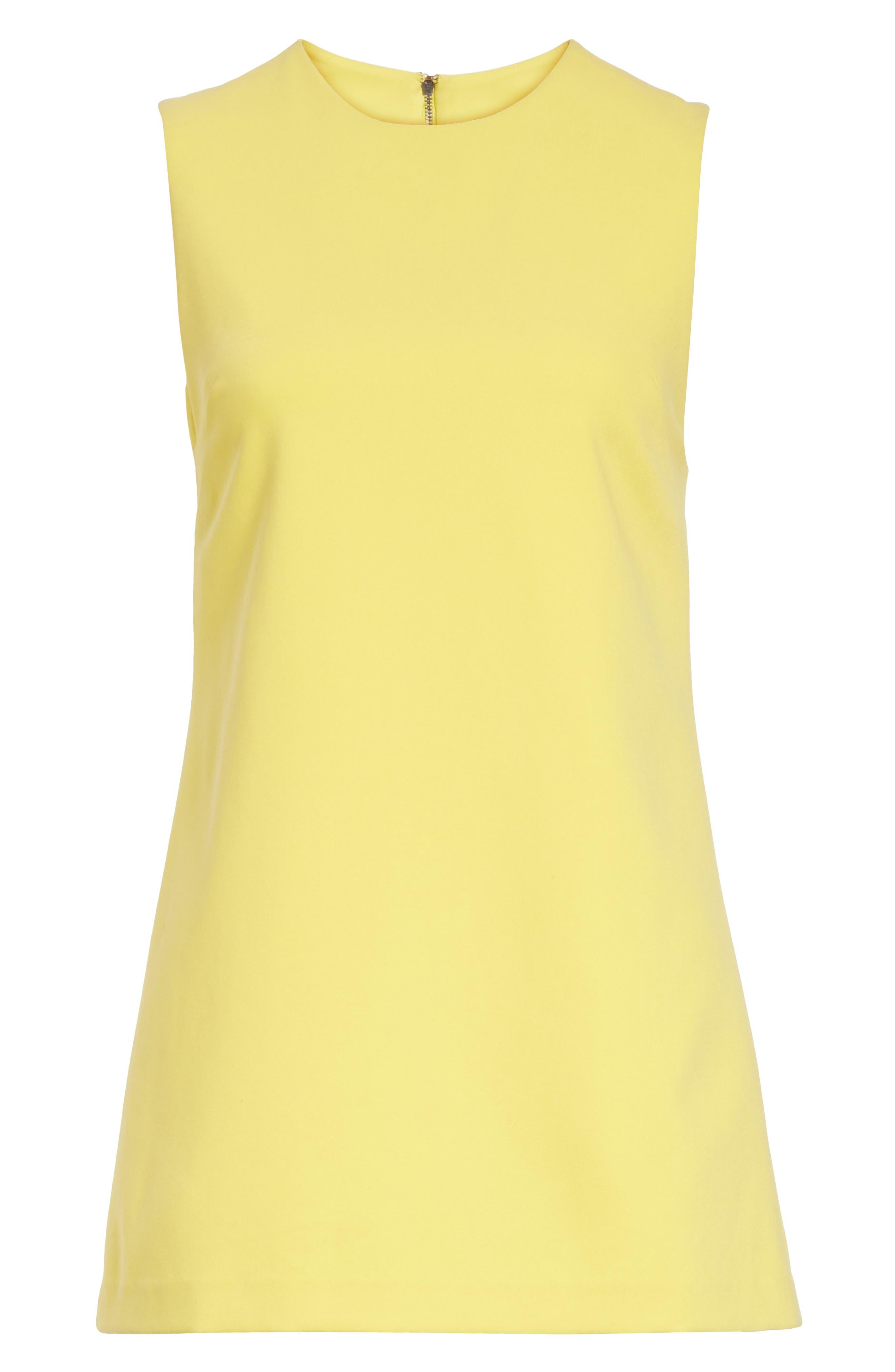 Coley A-Line Dress,                             Alternate thumbnail 6, color,                             Lemon
