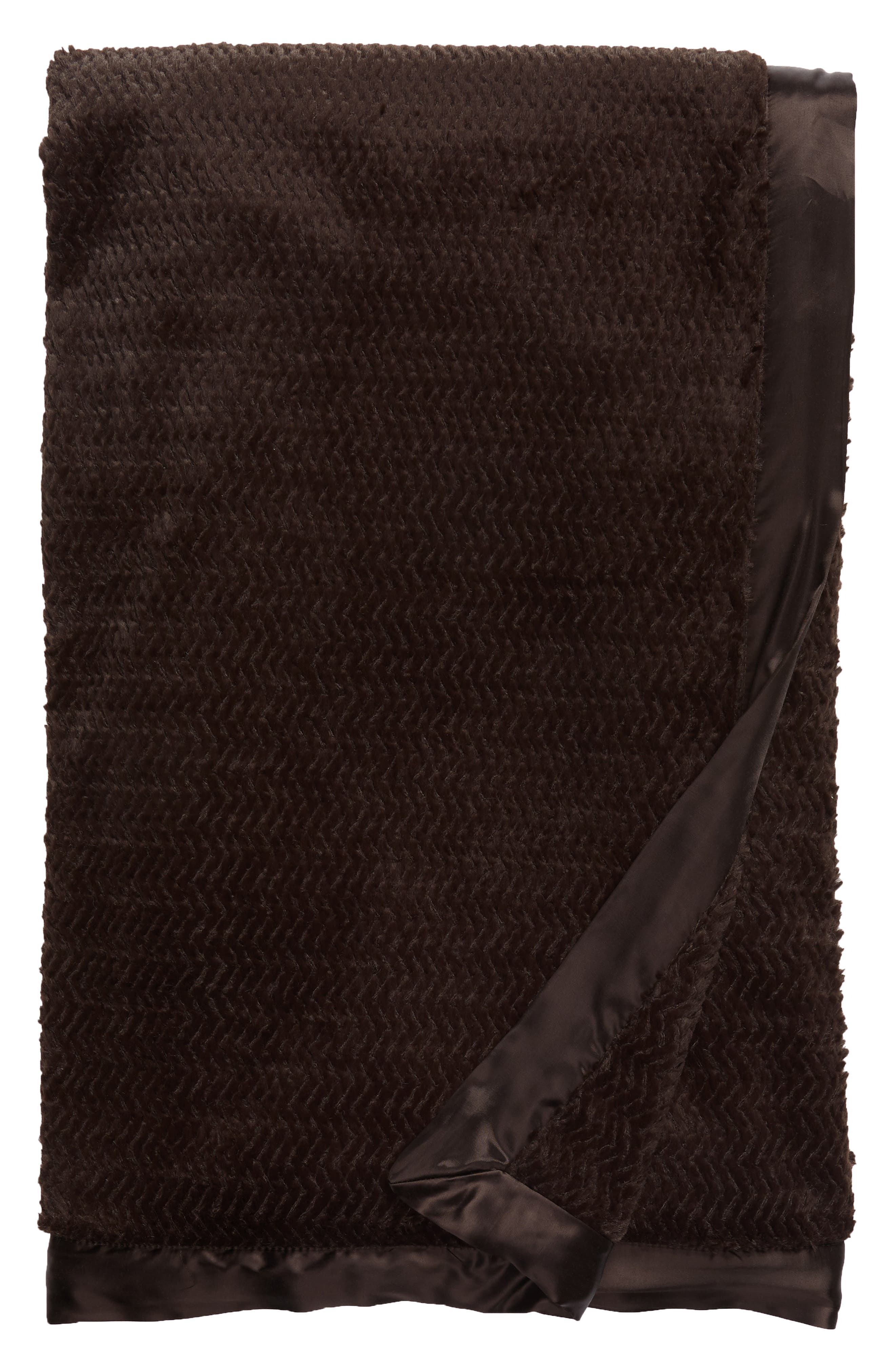 Luxe Twist Throw,                             Main thumbnail 1, color,                             Chocolate