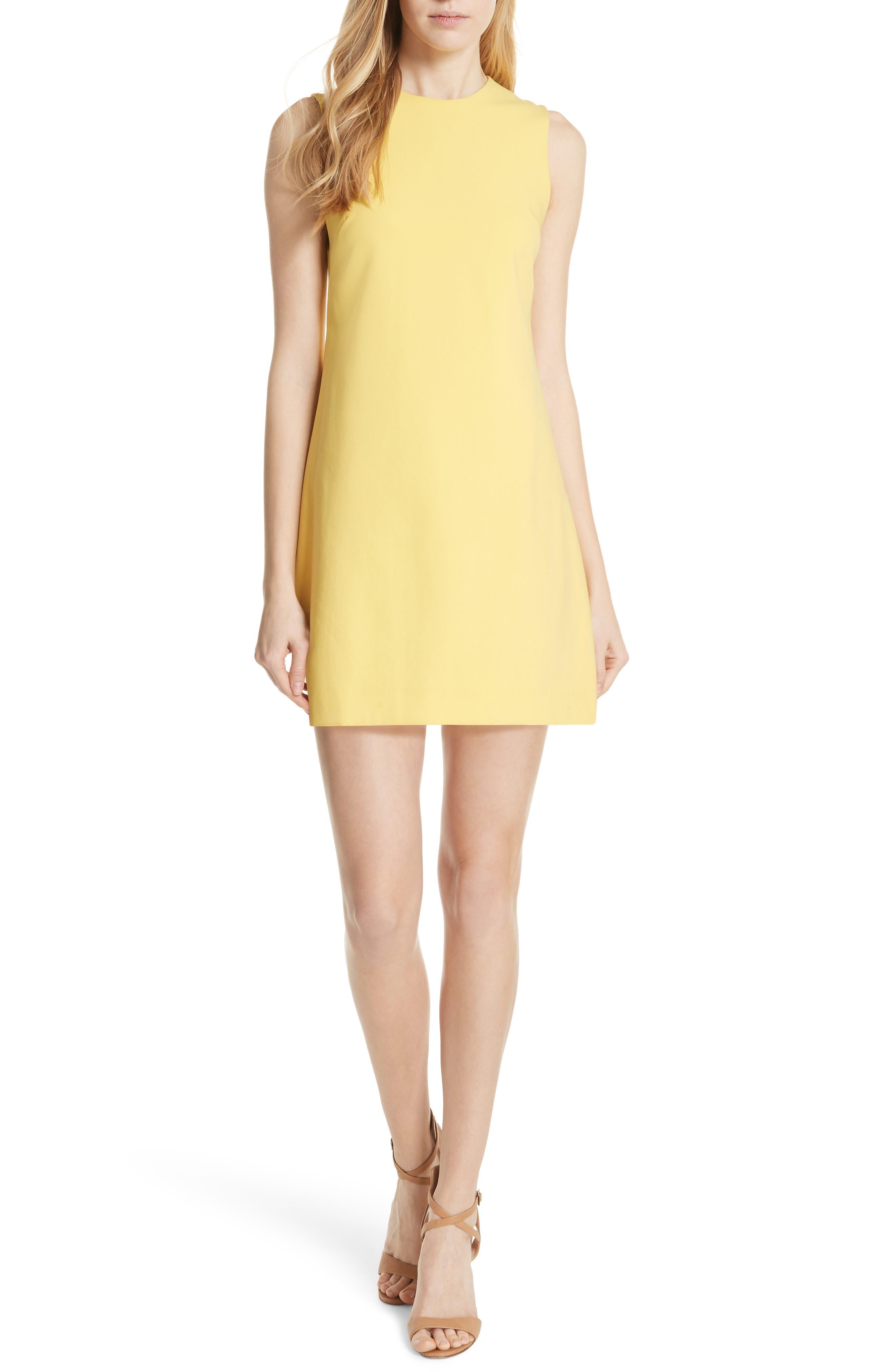 Coley A-Line Dress,                             Main thumbnail 1, color,                             Lemon