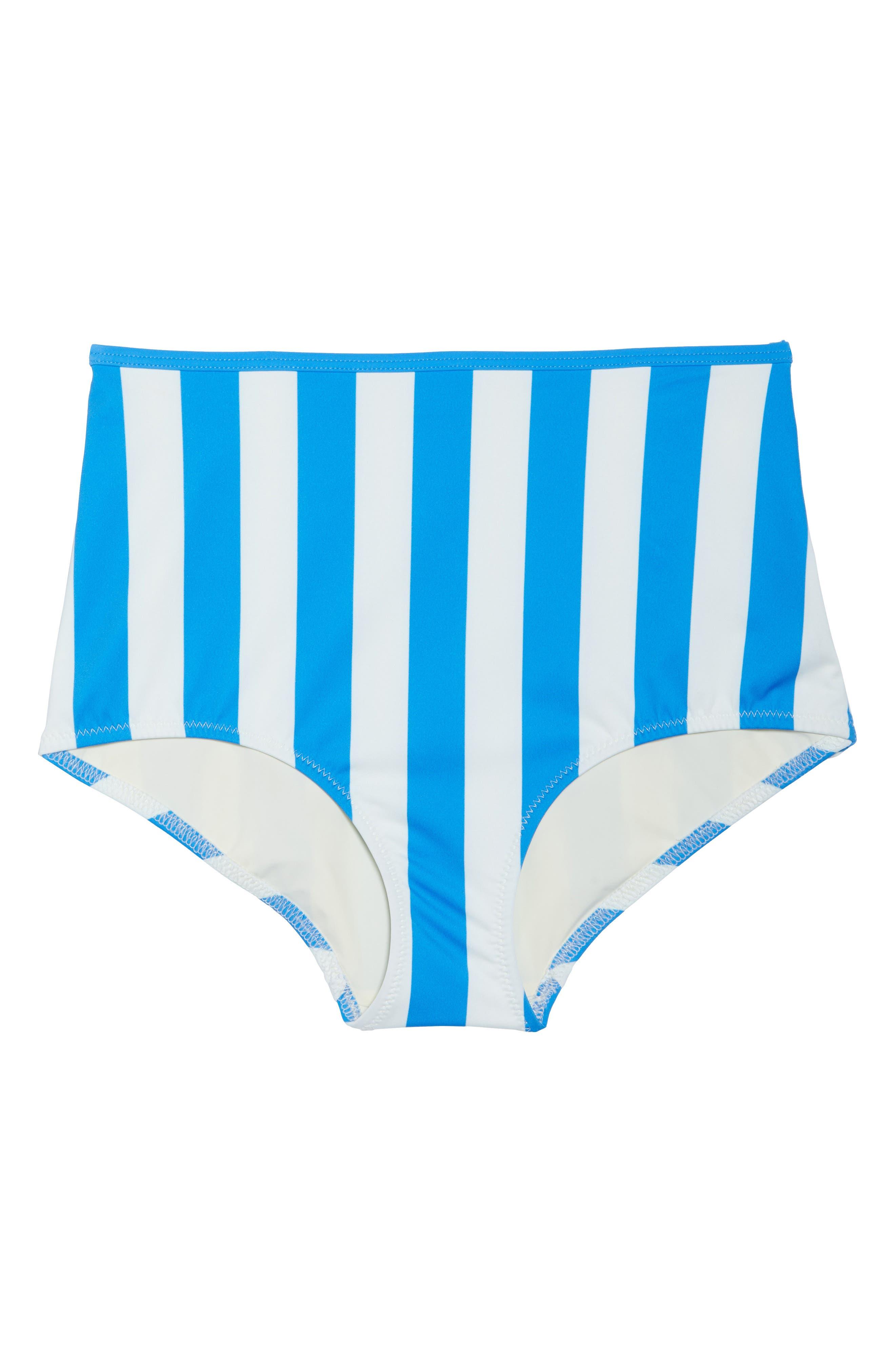 The Brigitte Swim Briefs,                             Alternate thumbnail 9, color,                             Sea Stripe