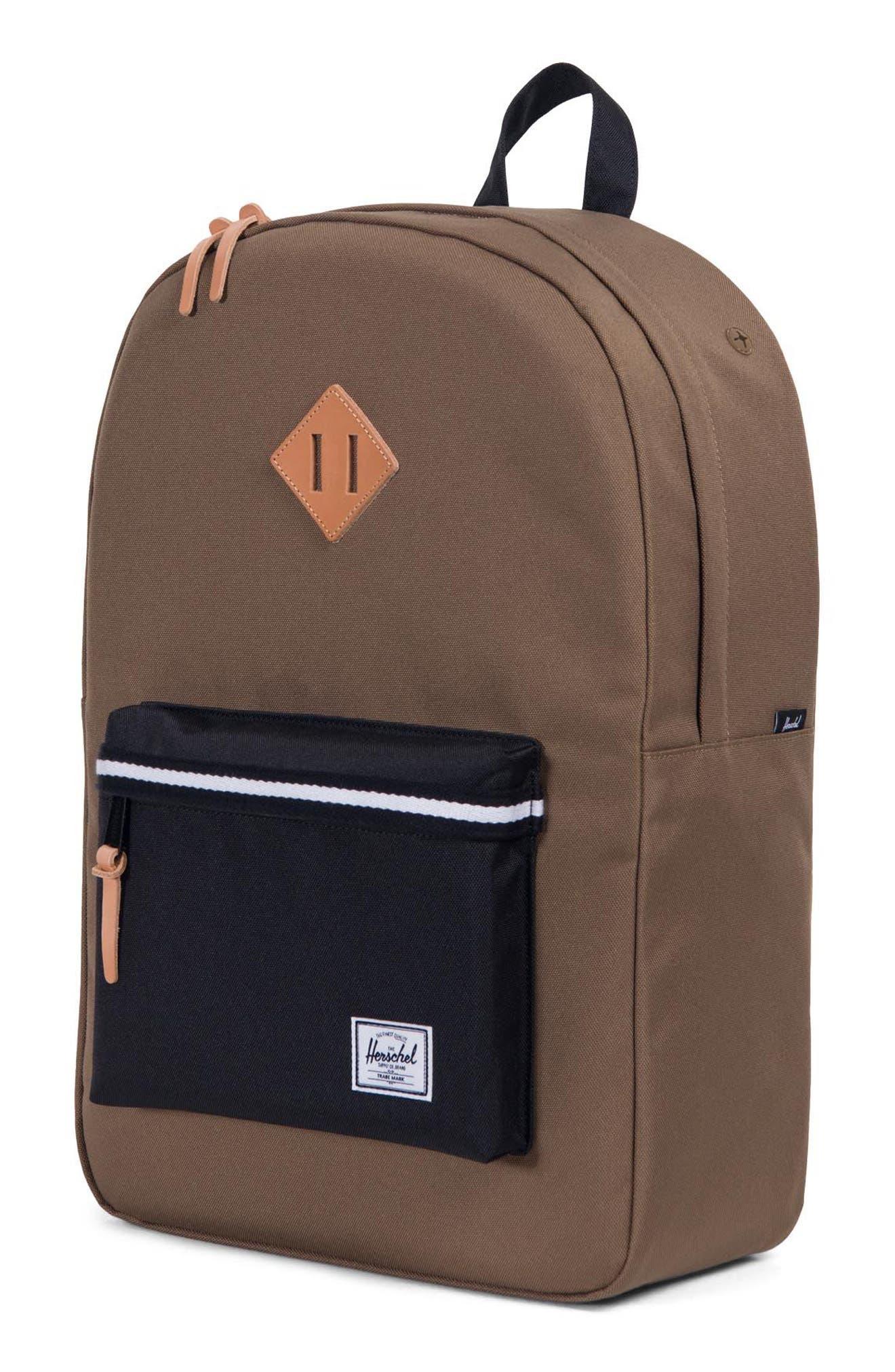Heritage Offset Stripe Backpack,                             Alternate thumbnail 4, color,                             Cub/ Black/ White