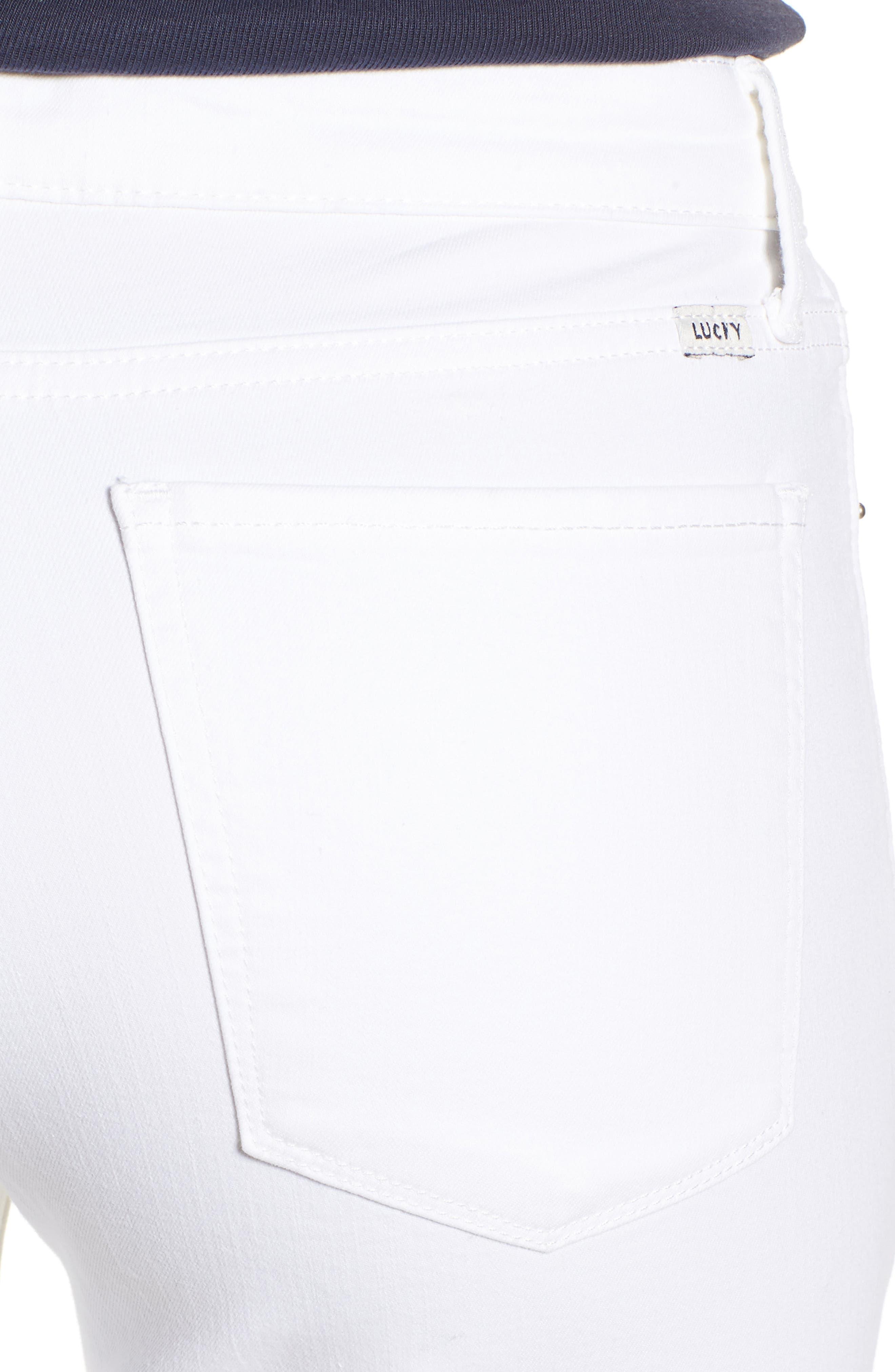 Ava Skinny White Jeans,                             Alternate thumbnail 4, color,                             Clean White