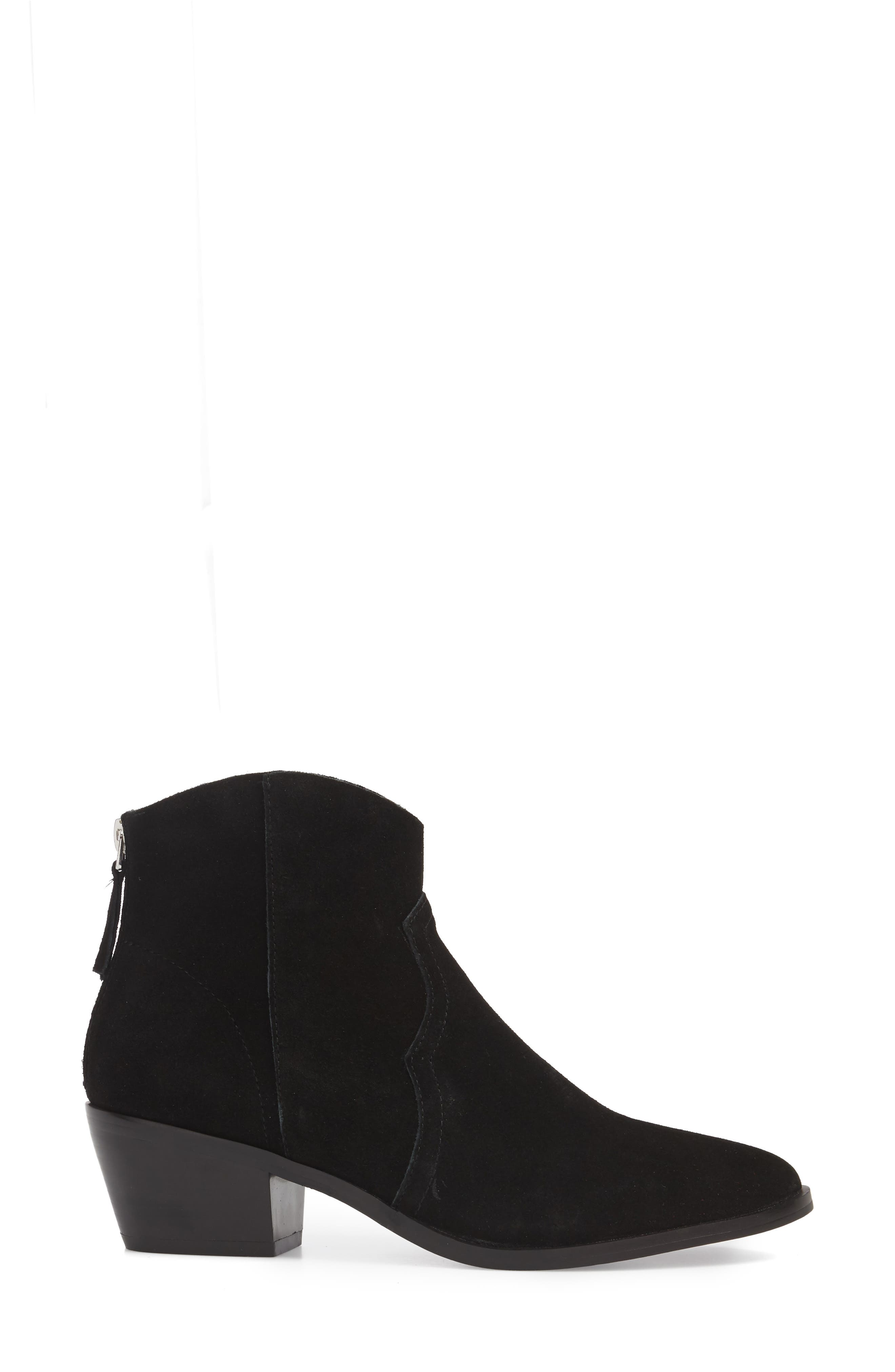Betty Western Bootie,                             Alternate thumbnail 3, color,                             Black