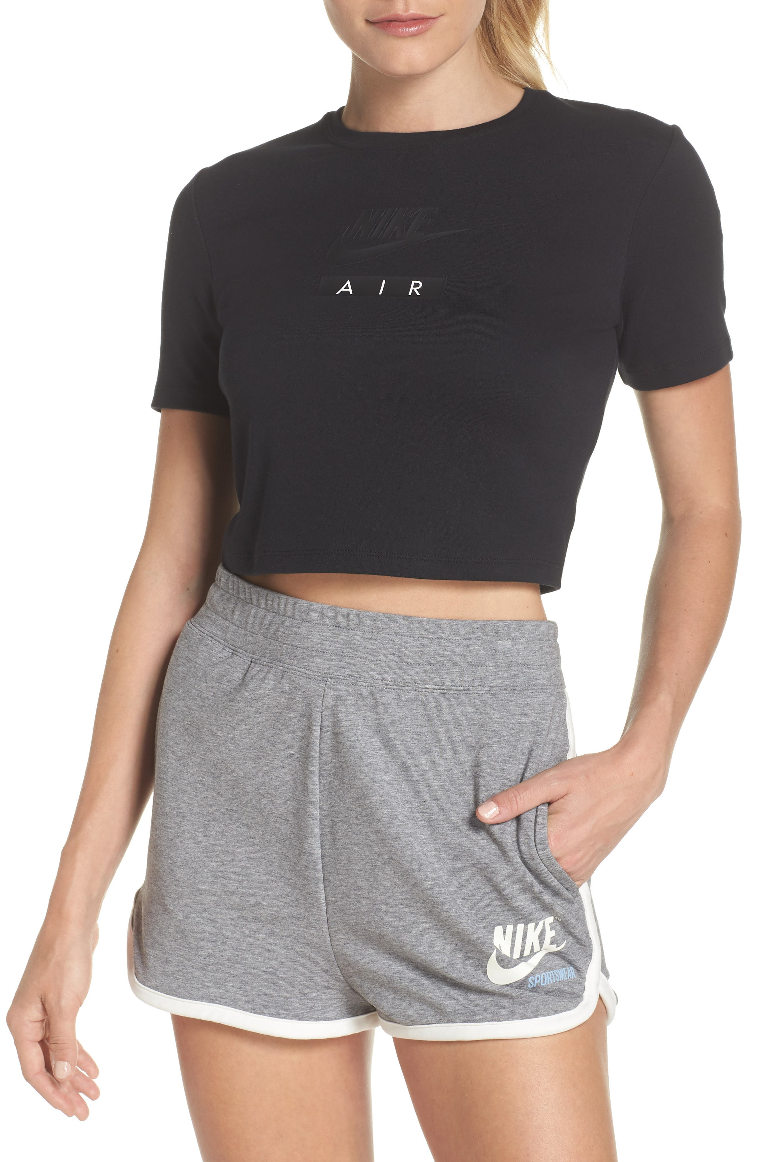 Alternate Image 1 Selected - Nike Sportswear Baby Air Crop Tee