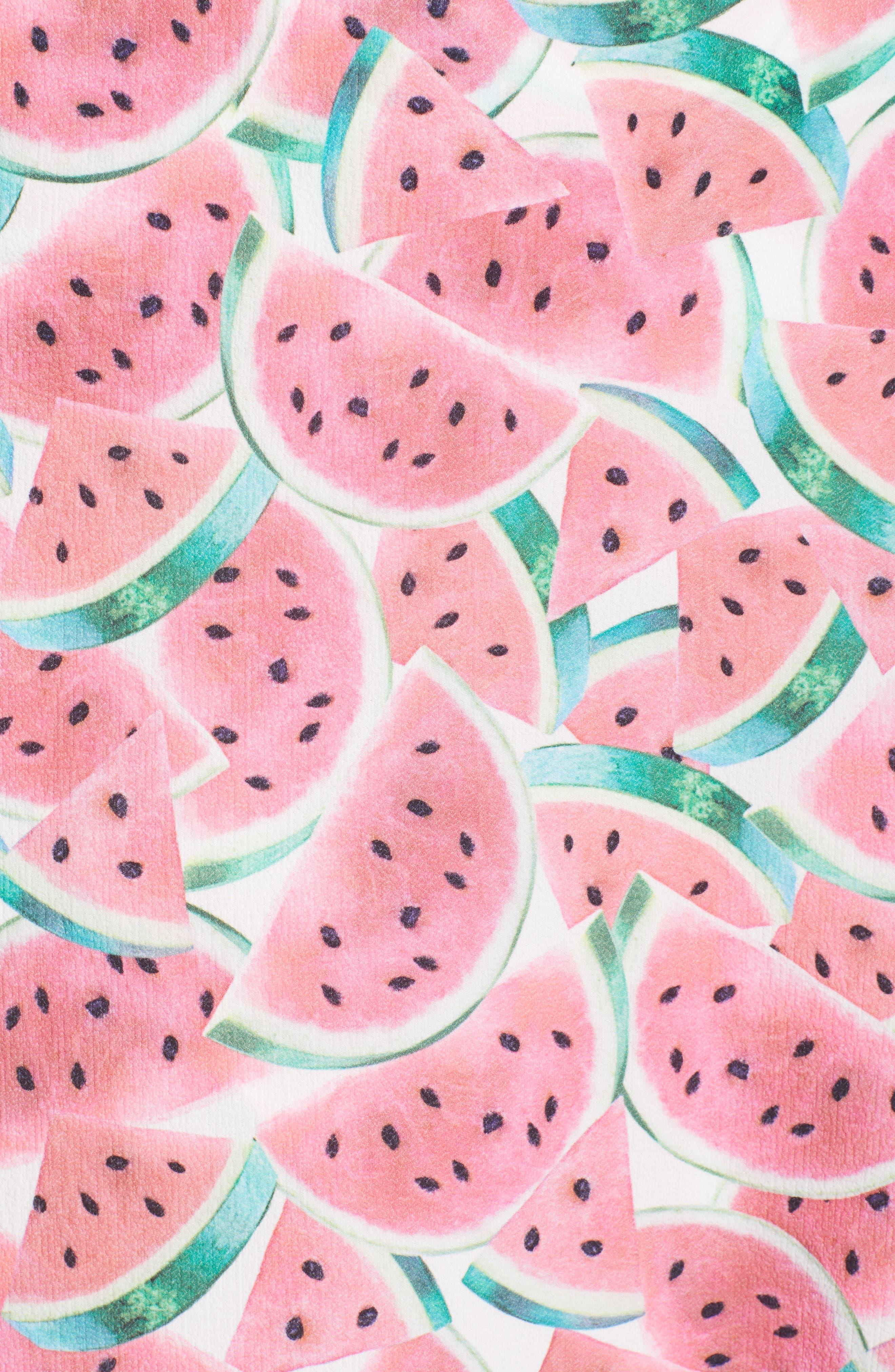 Flirt Midi Skirt,                             Alternate thumbnail 5, color,                             One In A Melon Crinkle Stretch