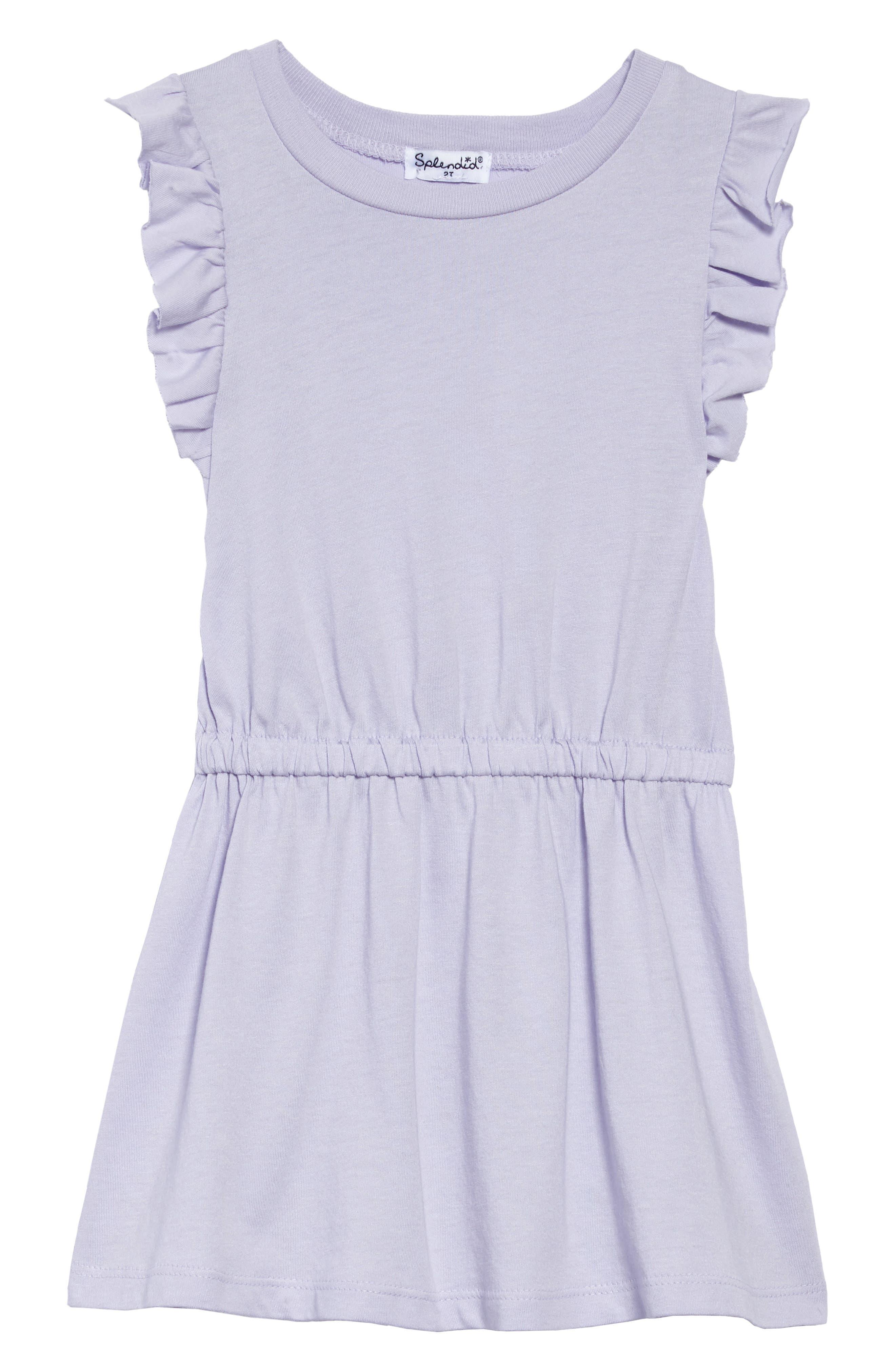 Ruffle Dress,                             Main thumbnail 1, color,                             Purple Heart