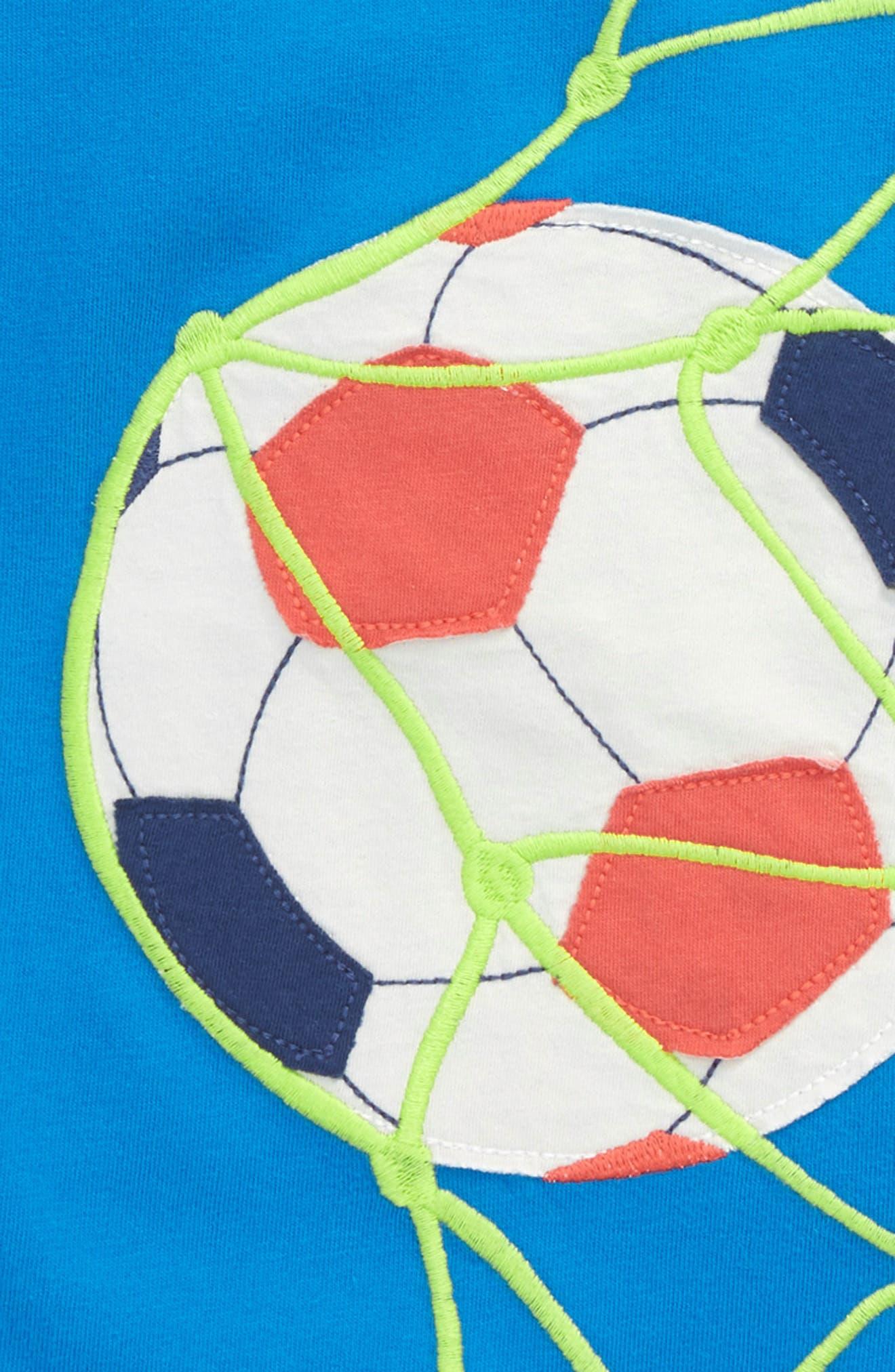 Sports Appliqué T-Shirt,                             Alternate thumbnail 2, color,                             Yogo Blue Football