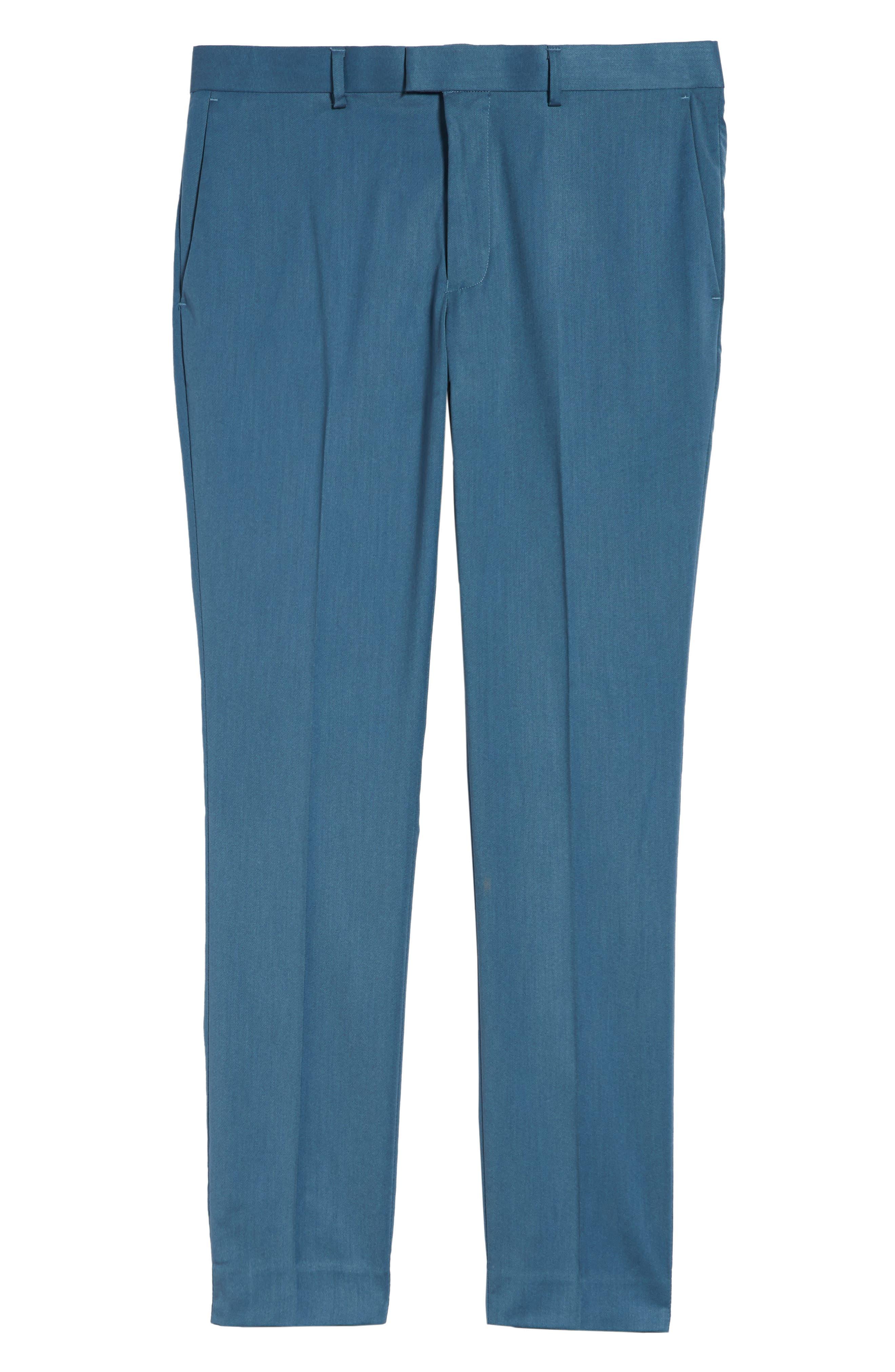 Skinny Fit Suit Trousers,                             Alternate thumbnail 6, color,                             Light Blue