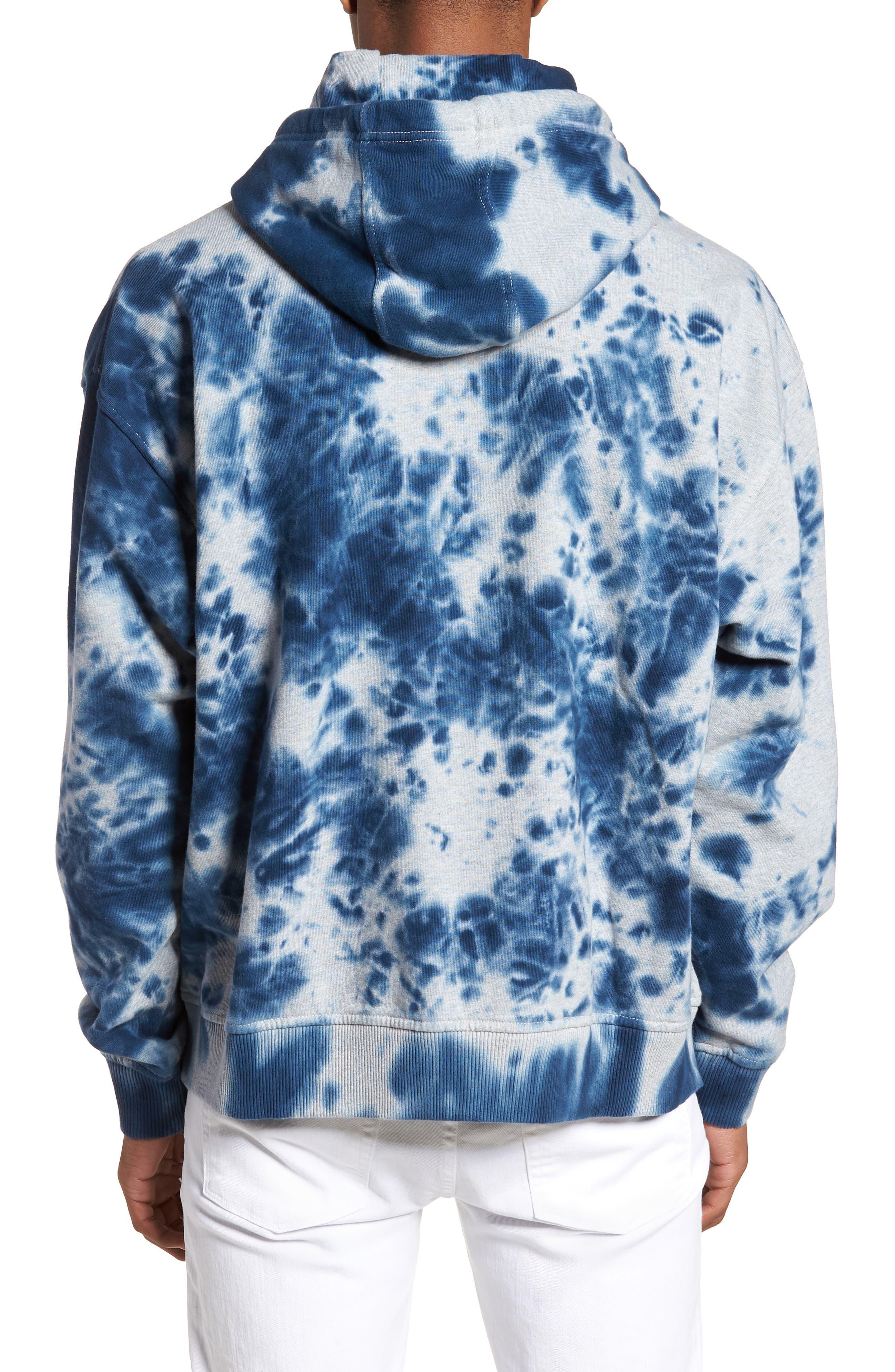 Vintage Dye Hoodie Sweatshirt,                             Alternate thumbnail 2, color,                             Light Grey Heather Tie Dye