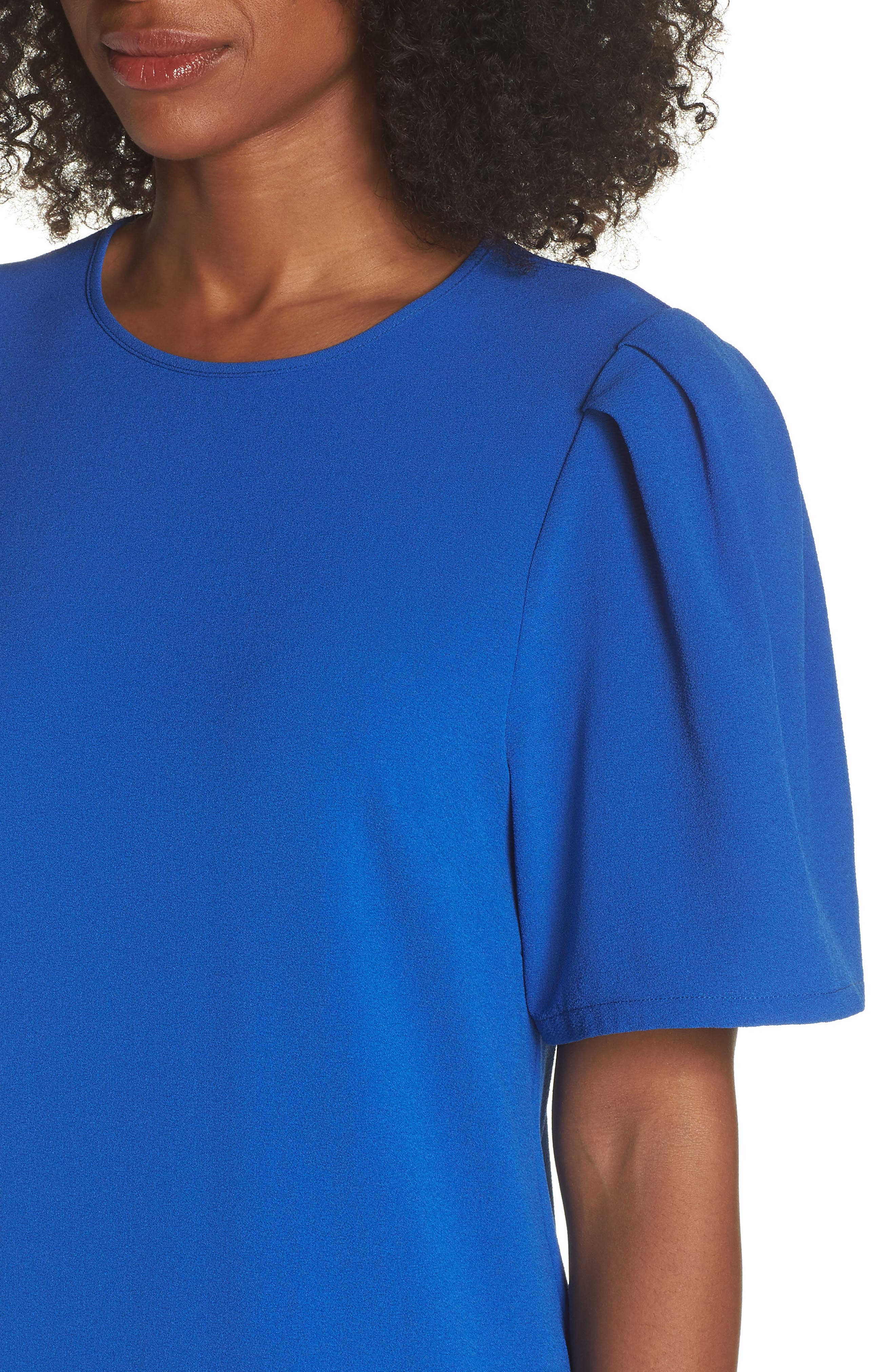 Anya Shift Dress,                             Alternate thumbnail 4, color,                             Cobalt