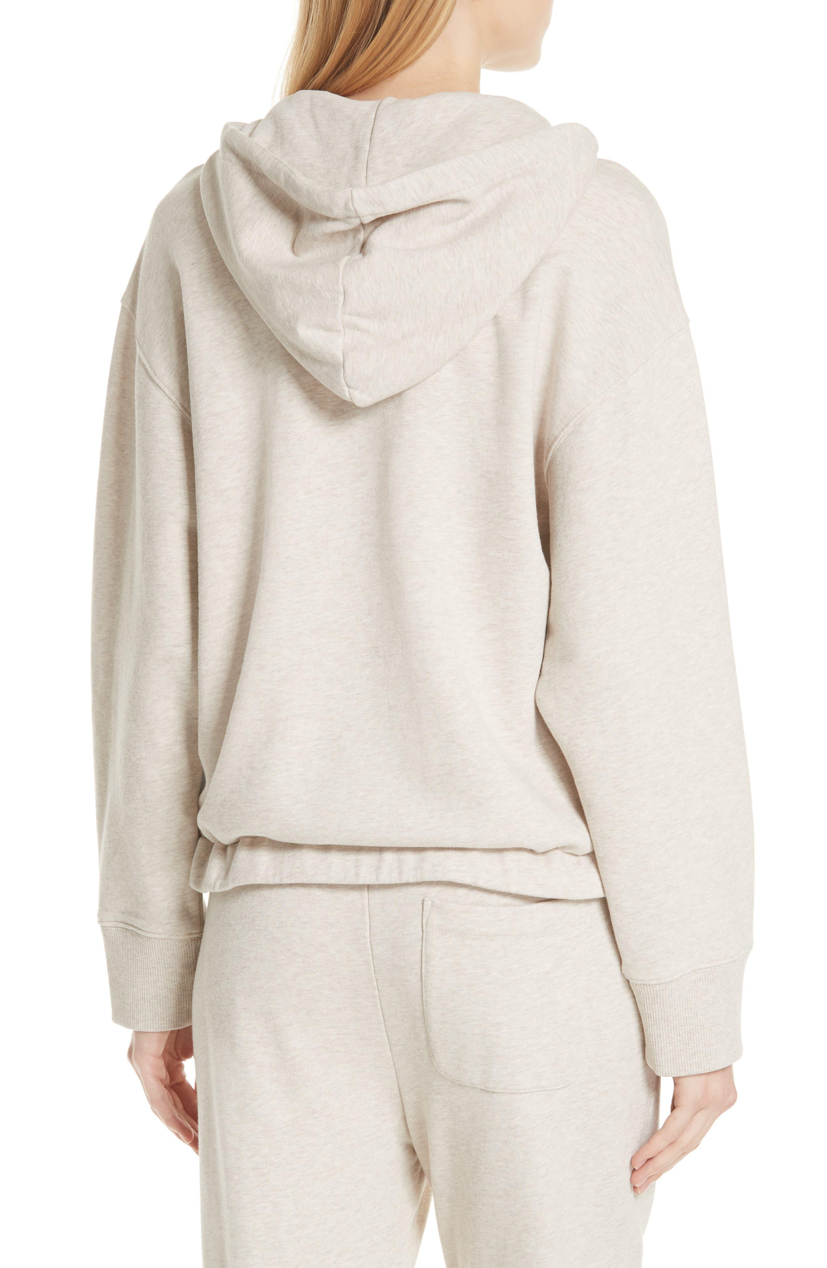 Half Zip Cotton Hoodie Sweatshirt,                             Alternate thumbnail 2, color,                             H Burlap