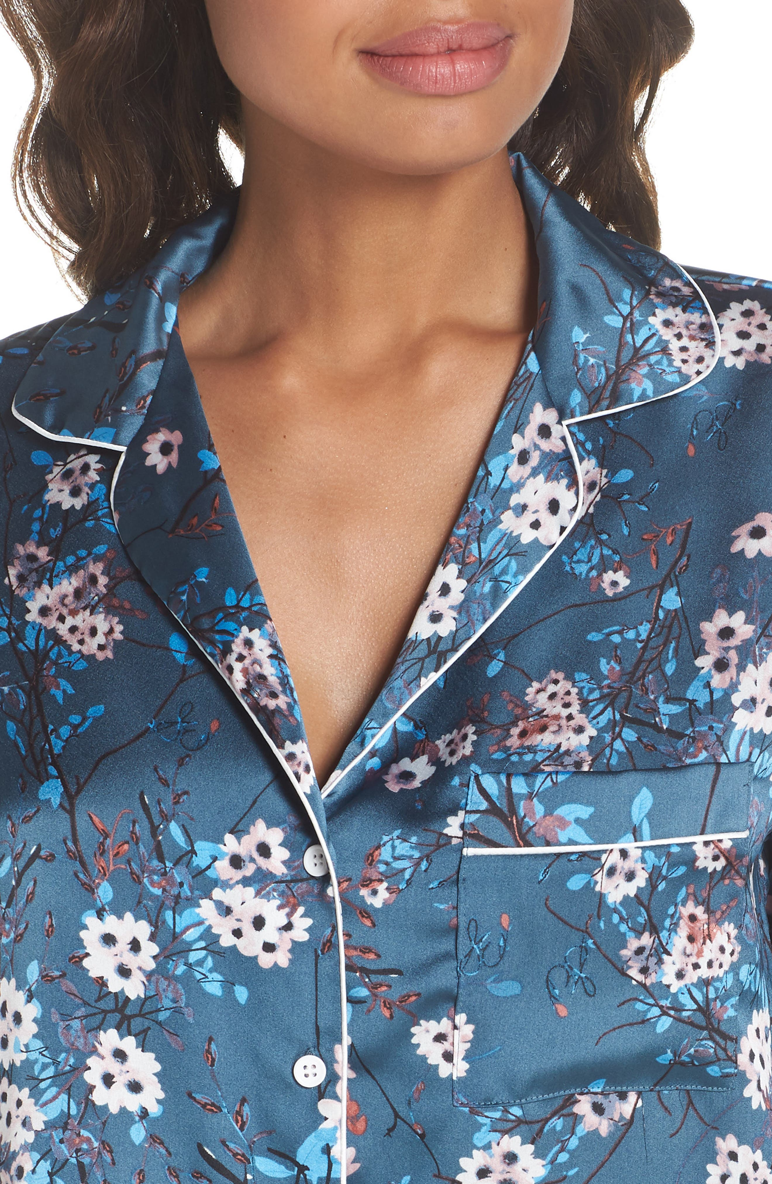 Short Pajamas,                             Alternate thumbnail 4, color,                             Mocorran Blue Floral