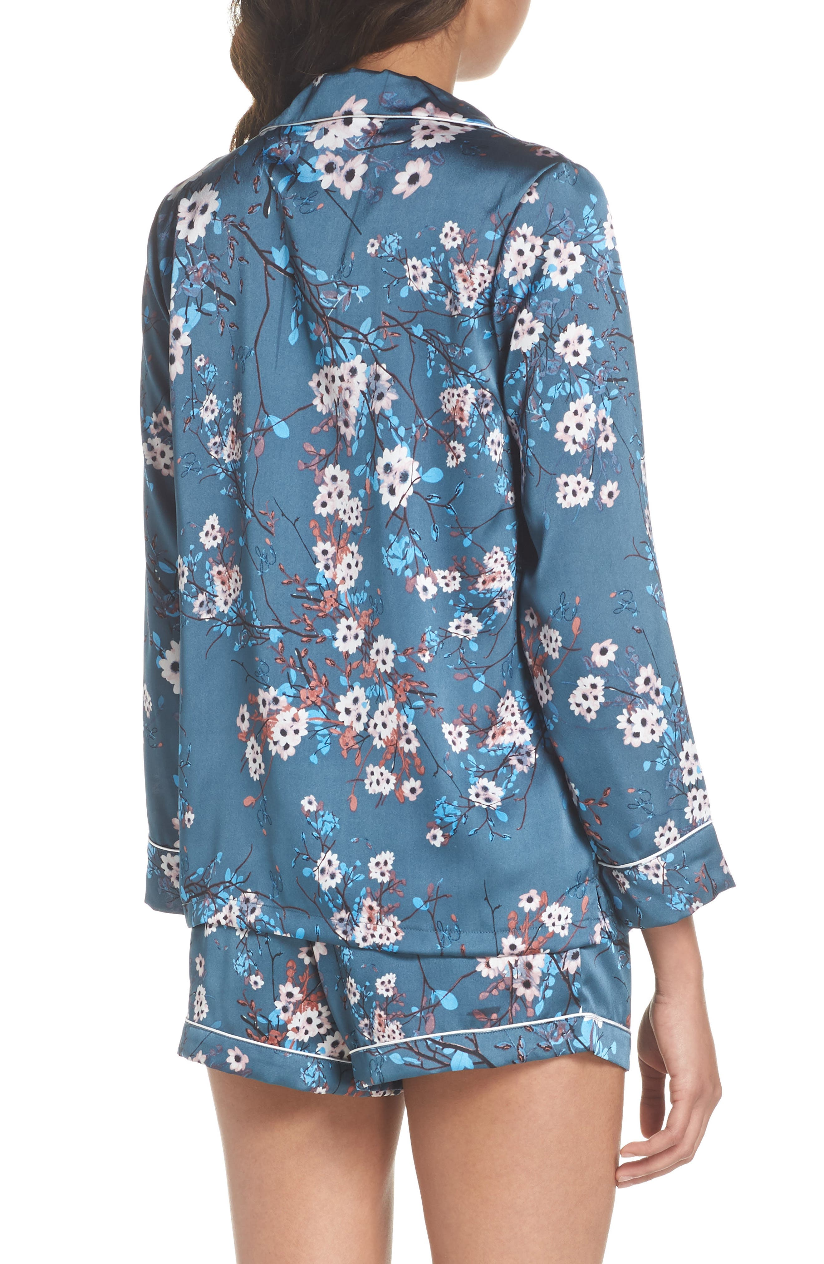 Short Pajamas,                             Alternate thumbnail 2, color,                             Mocorran Blue Floral