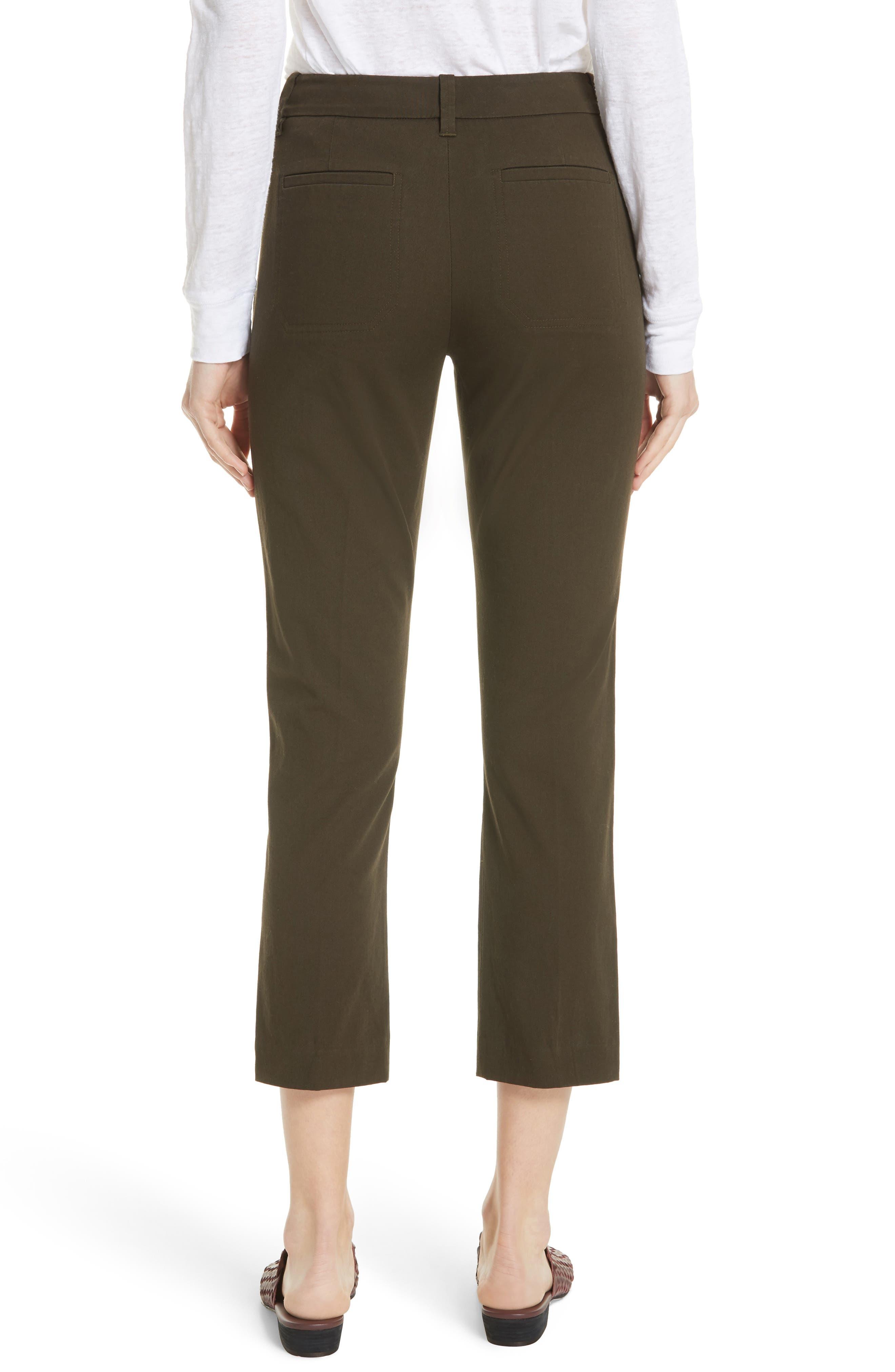 Crop Chino Pants,                             Alternate thumbnail 2, color,                             Pinon Green