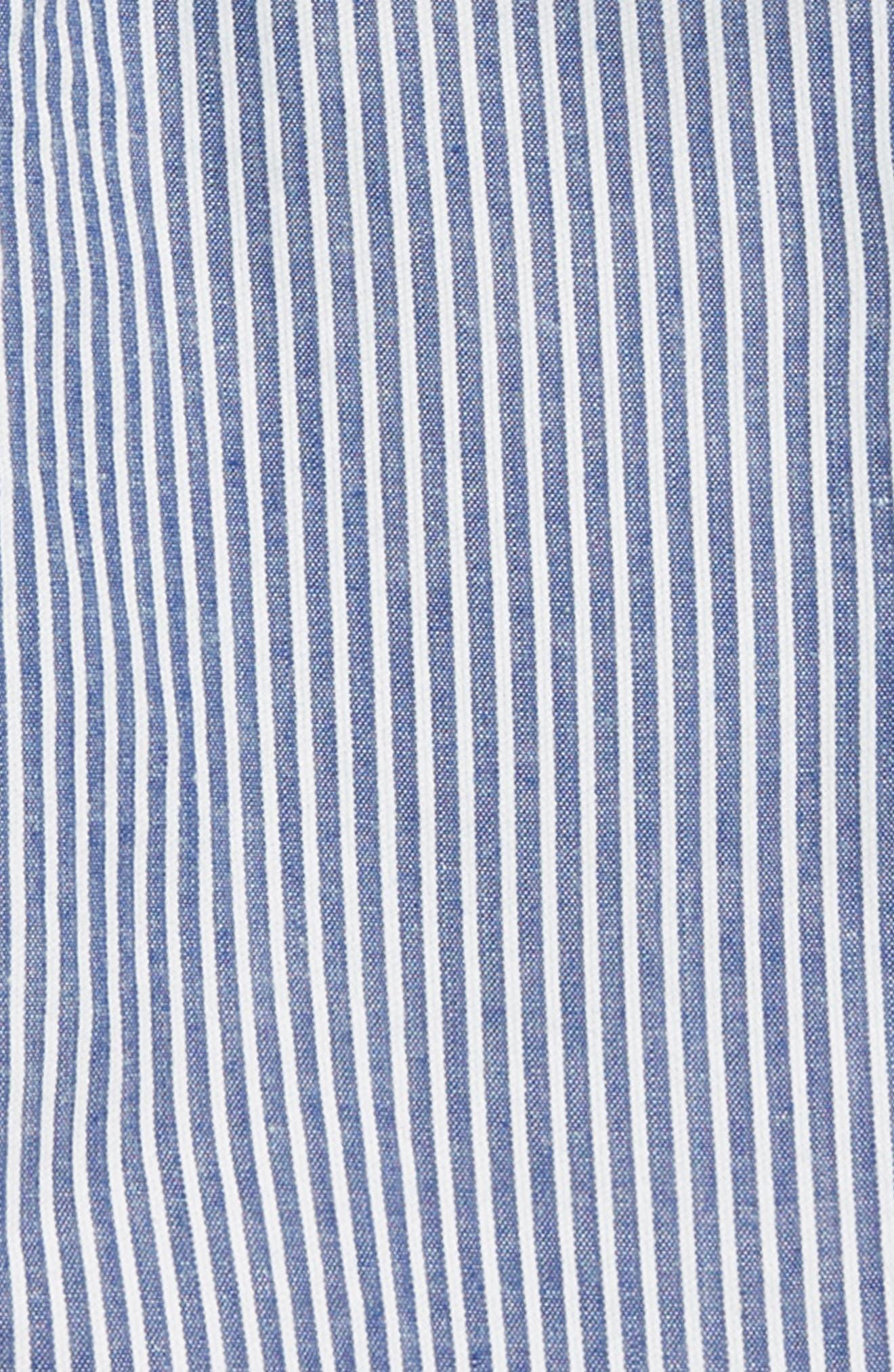 Smart Stripe Shorts,                             Alternate thumbnail 2, color,                             Duke Blue/ Ecru Seersucker