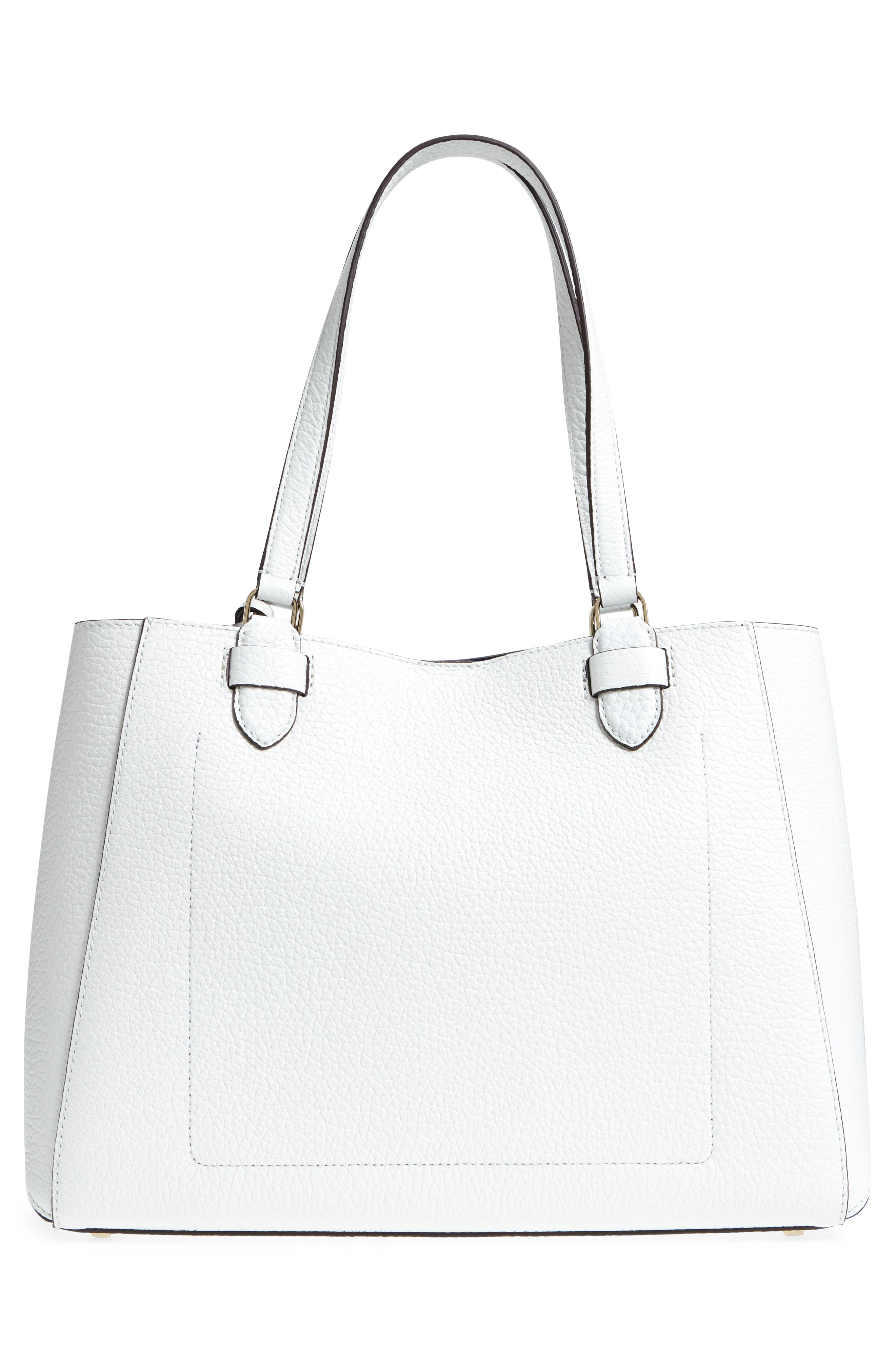 carter street - tyler leather tote,                             Alternate thumbnail 4, color,                             Bright White
