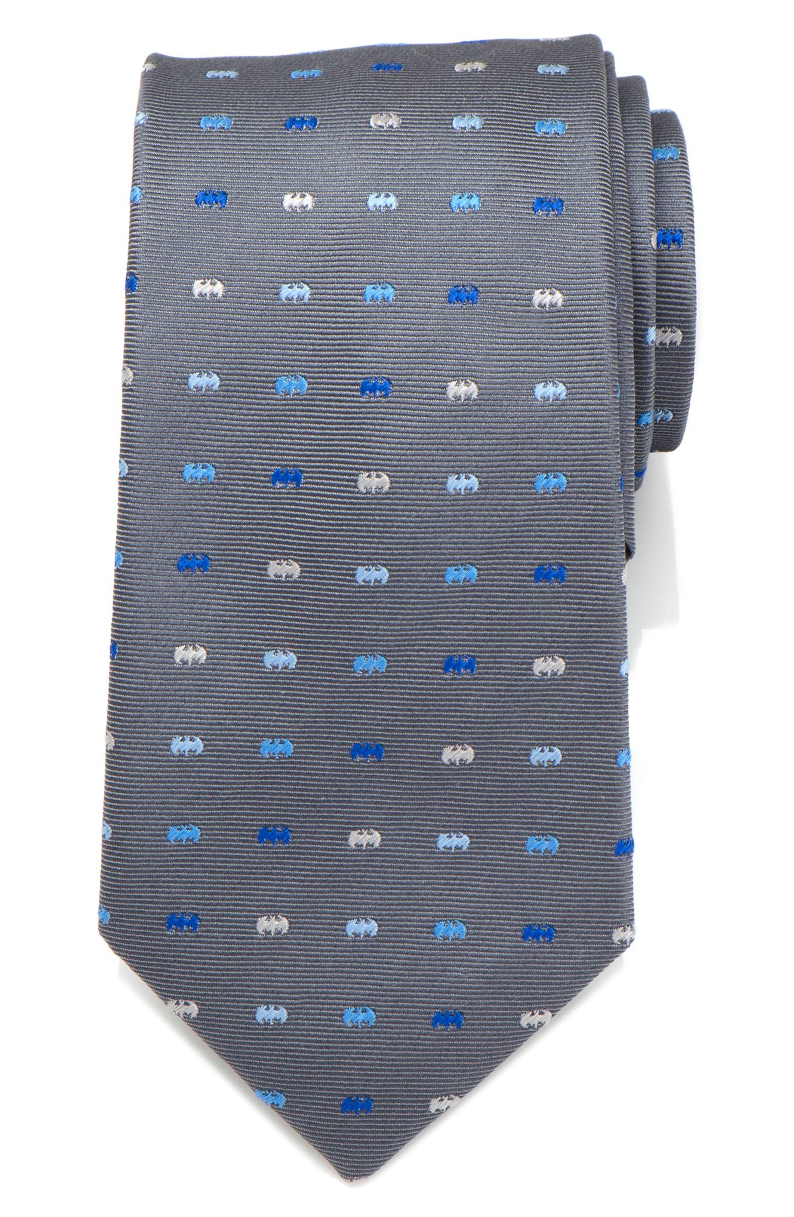 Batman Icon Silk Tie,                         Main,                         color, Grey