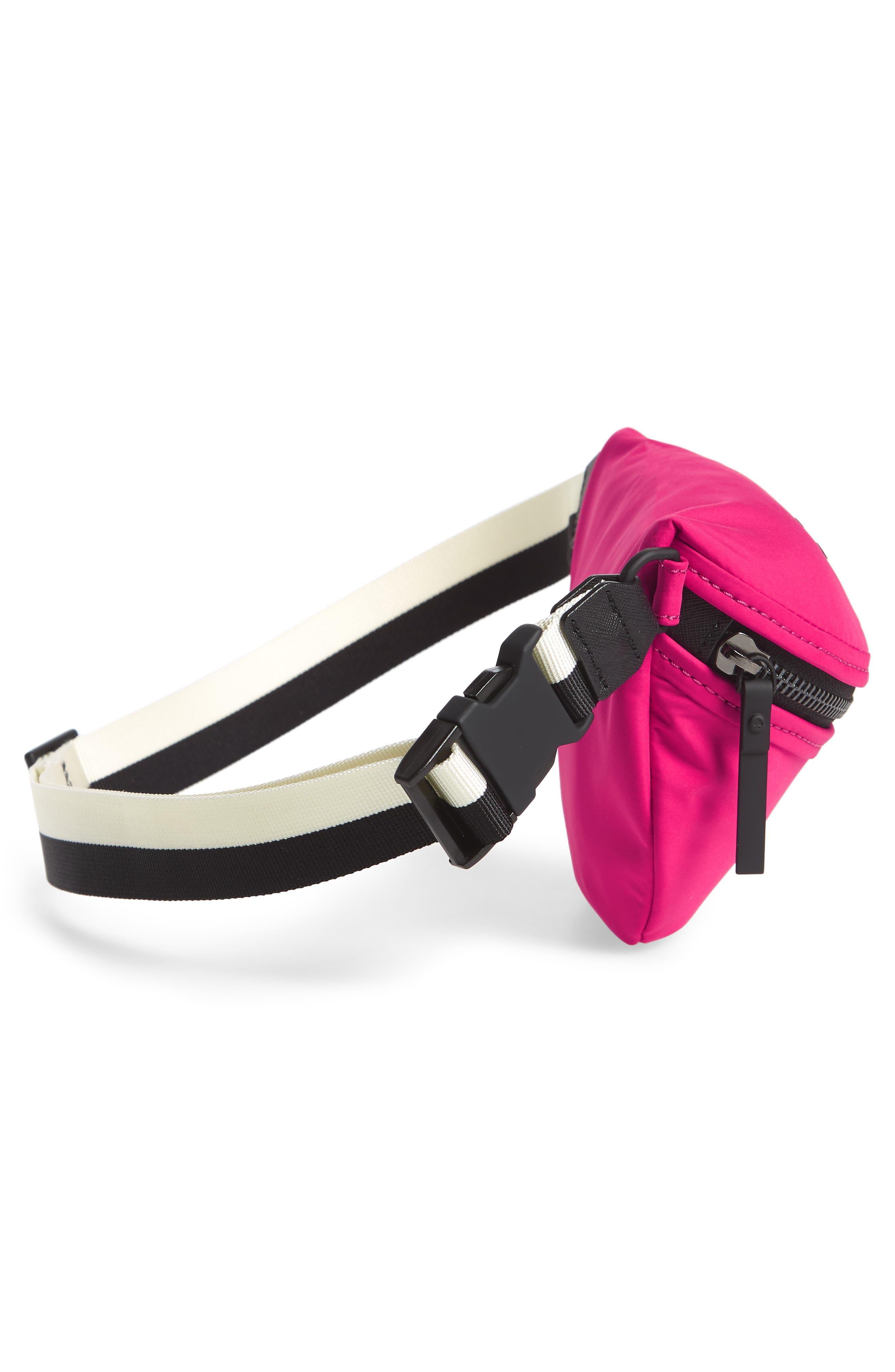 that's the spirit mini nylon fanny pack,                             Alternate thumbnail 6, color,                             Kinetic Pink