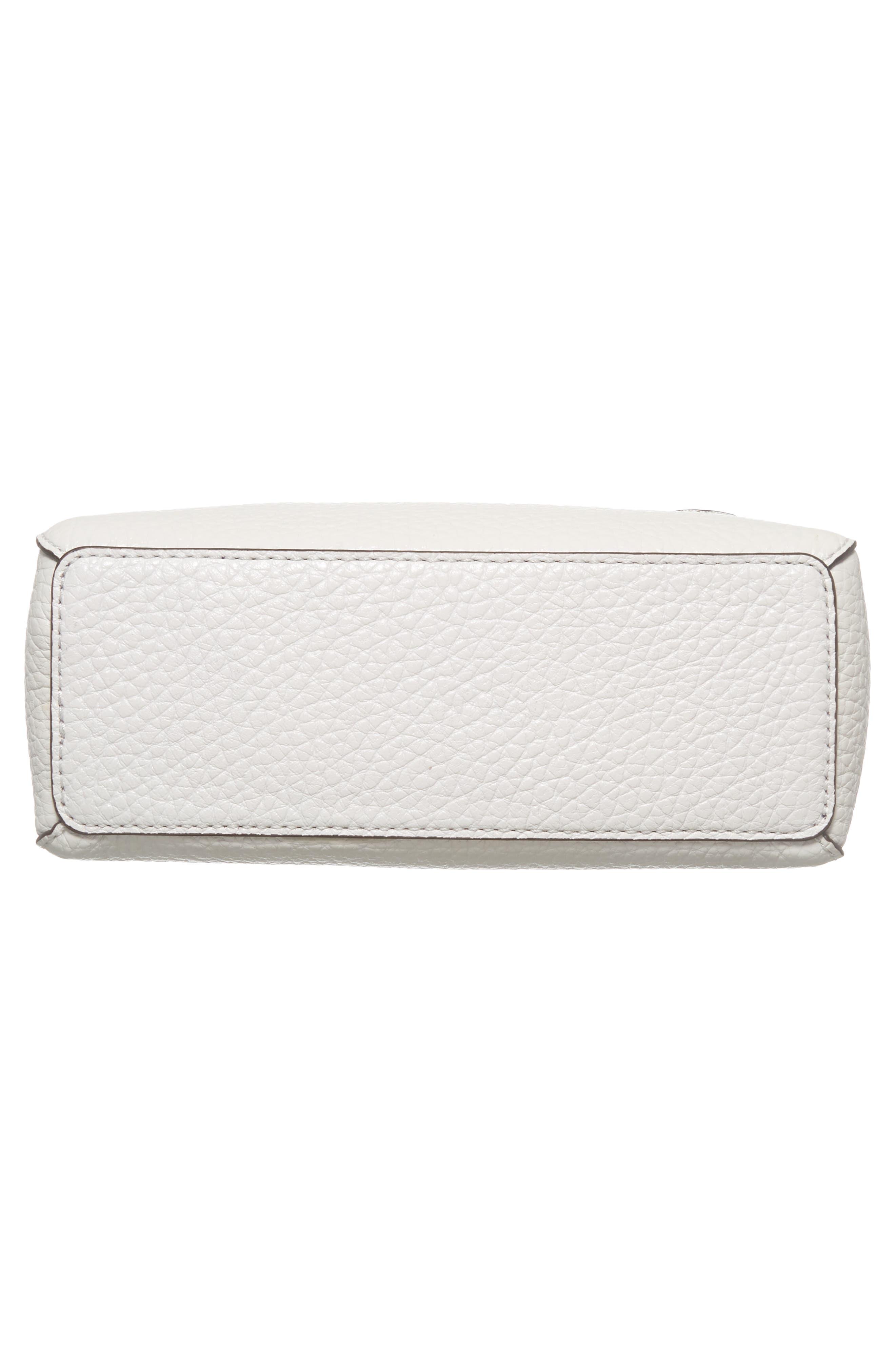 carter street - berrin leather crossbody bag,                             Alternate thumbnail 5, color,                             Bright White