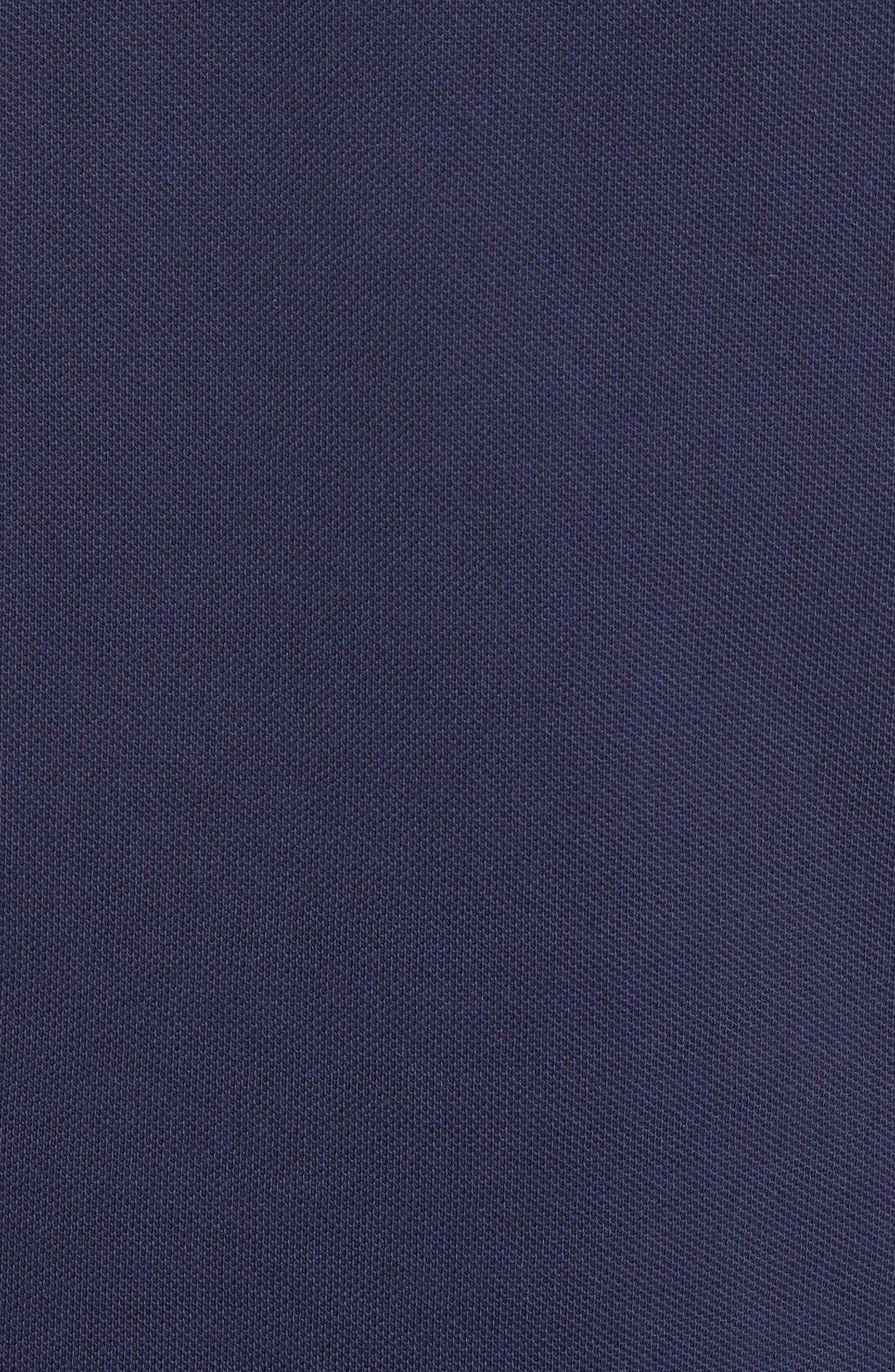 Piqué Polo,                             Alternate thumbnail 5, color,                             Navy