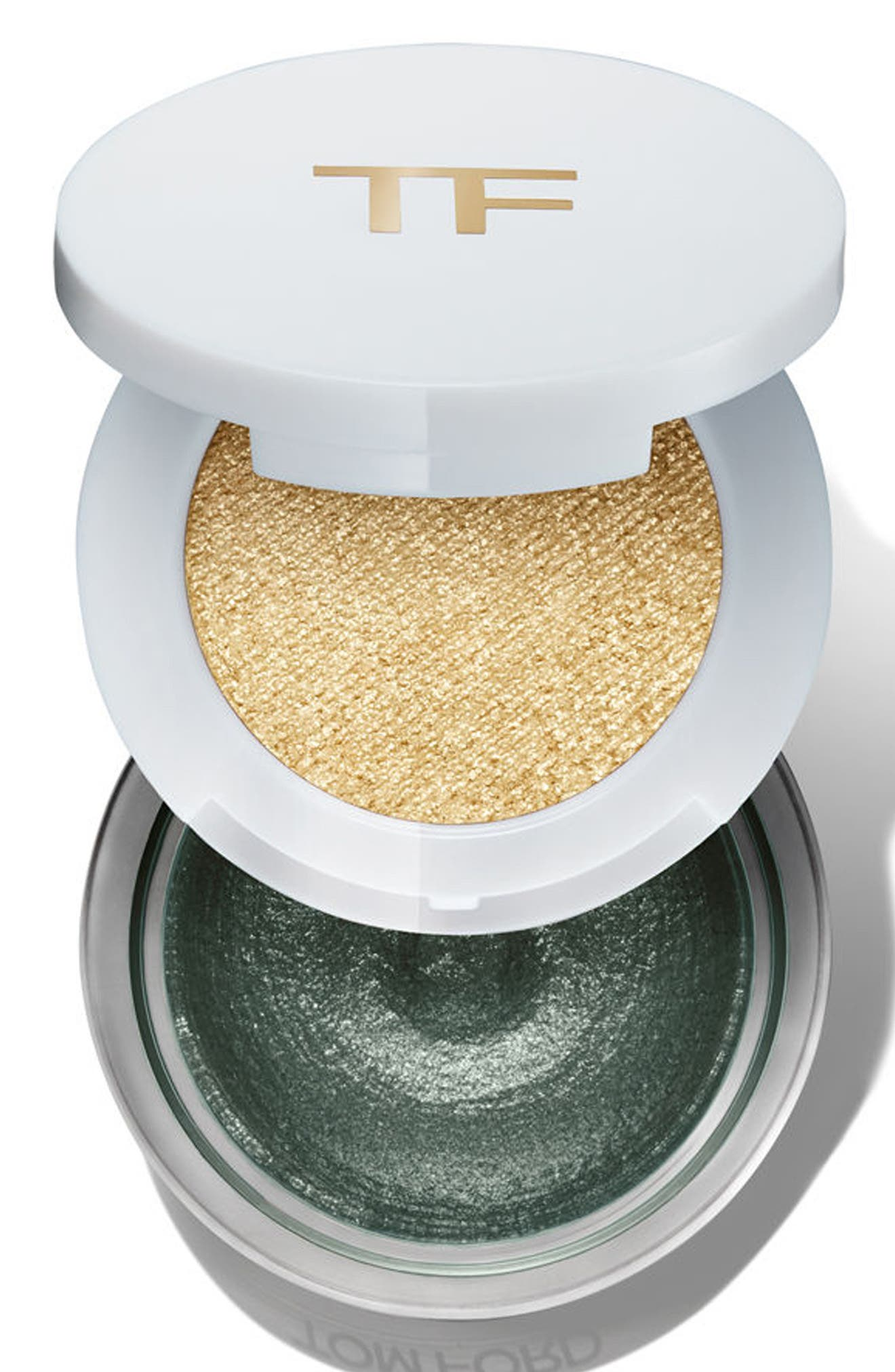 Cream & Powder Eye Color Duo,                             Alternate thumbnail 6, color,                             Emerald Isles