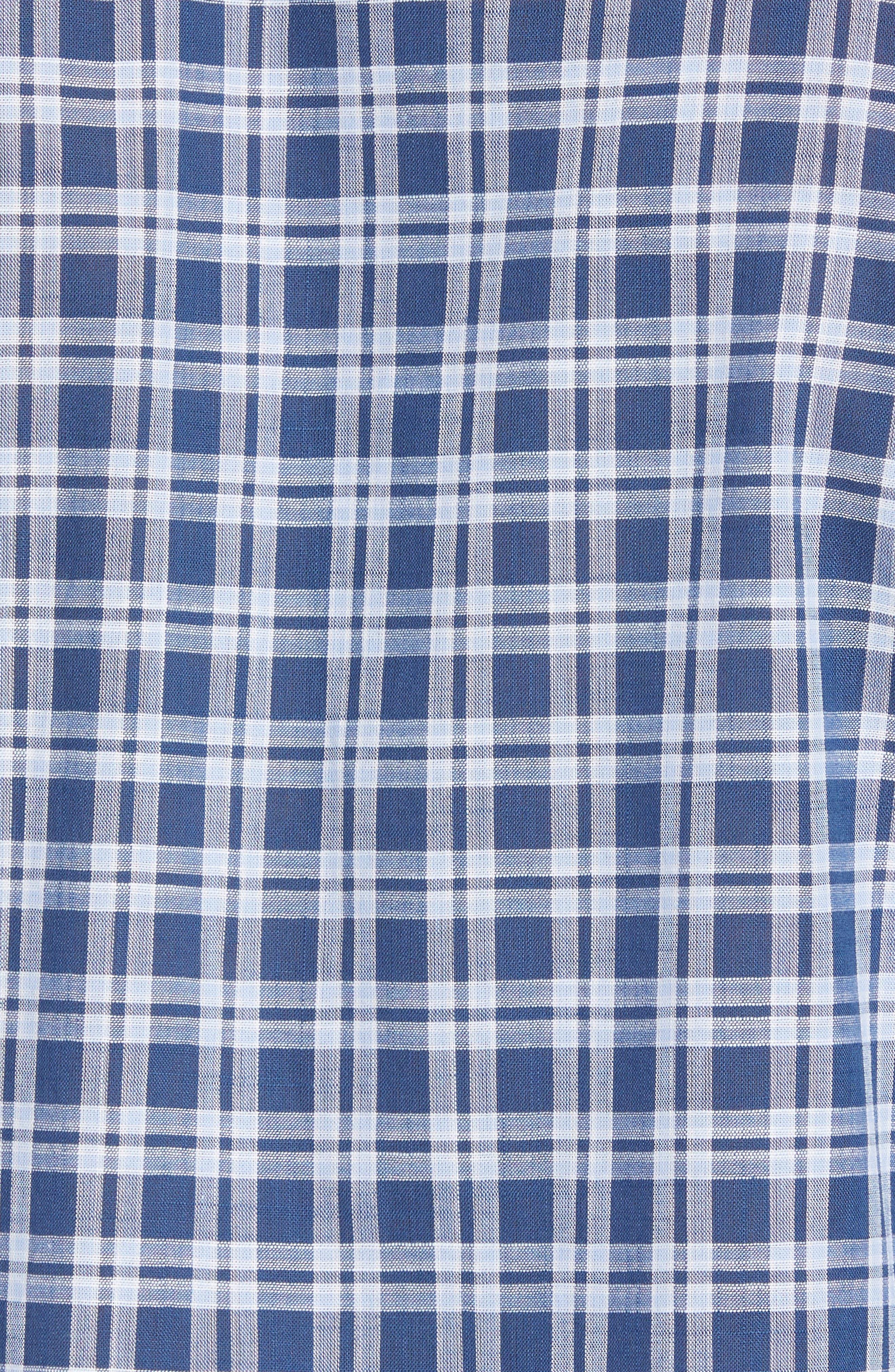 Speer Regular Fit Sport Shirt,                             Alternate thumbnail 5, color,                             Indigo